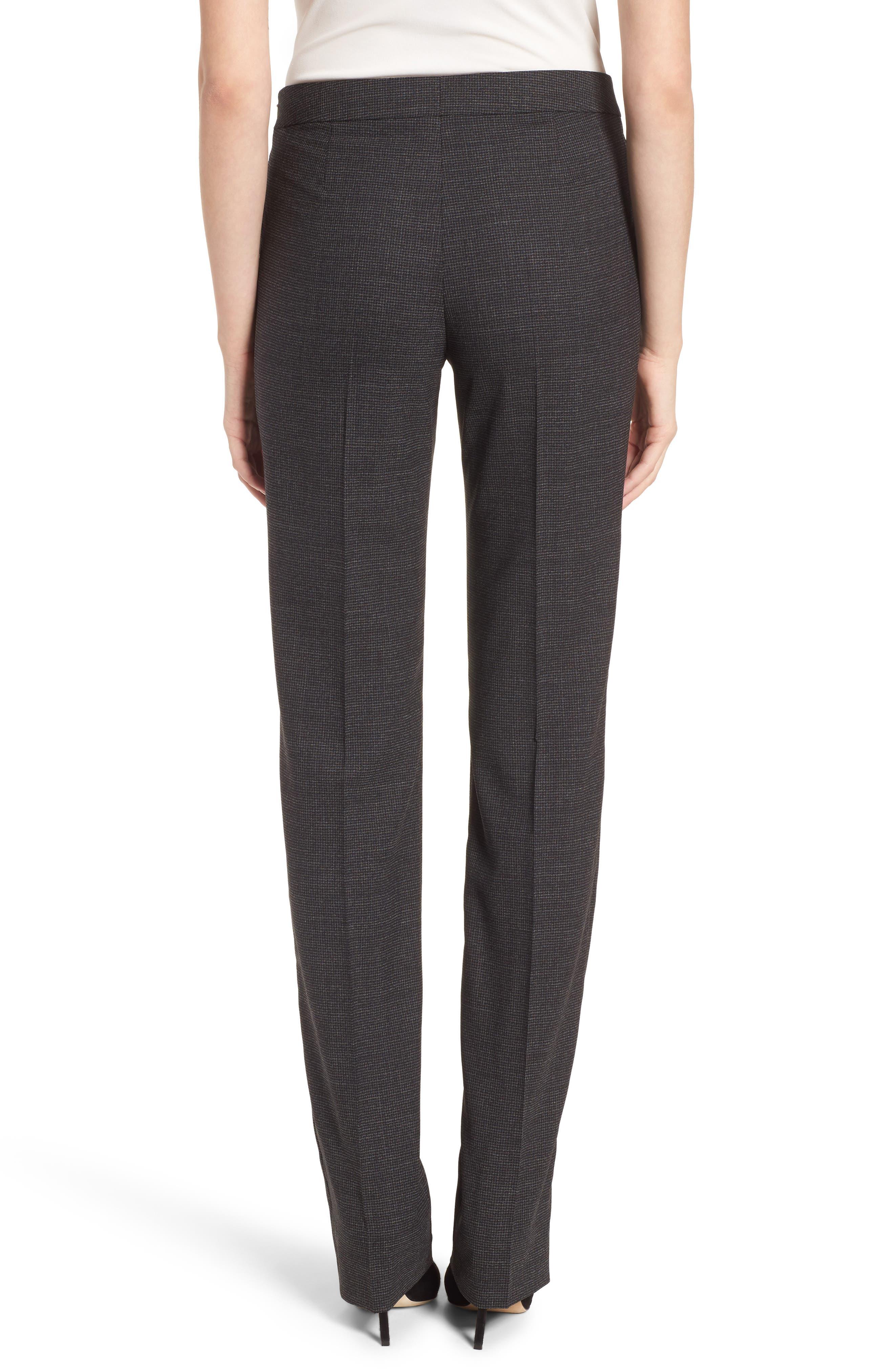 Tafena Check Stretch Wool Pants,                             Alternate thumbnail 2, color,                             006
