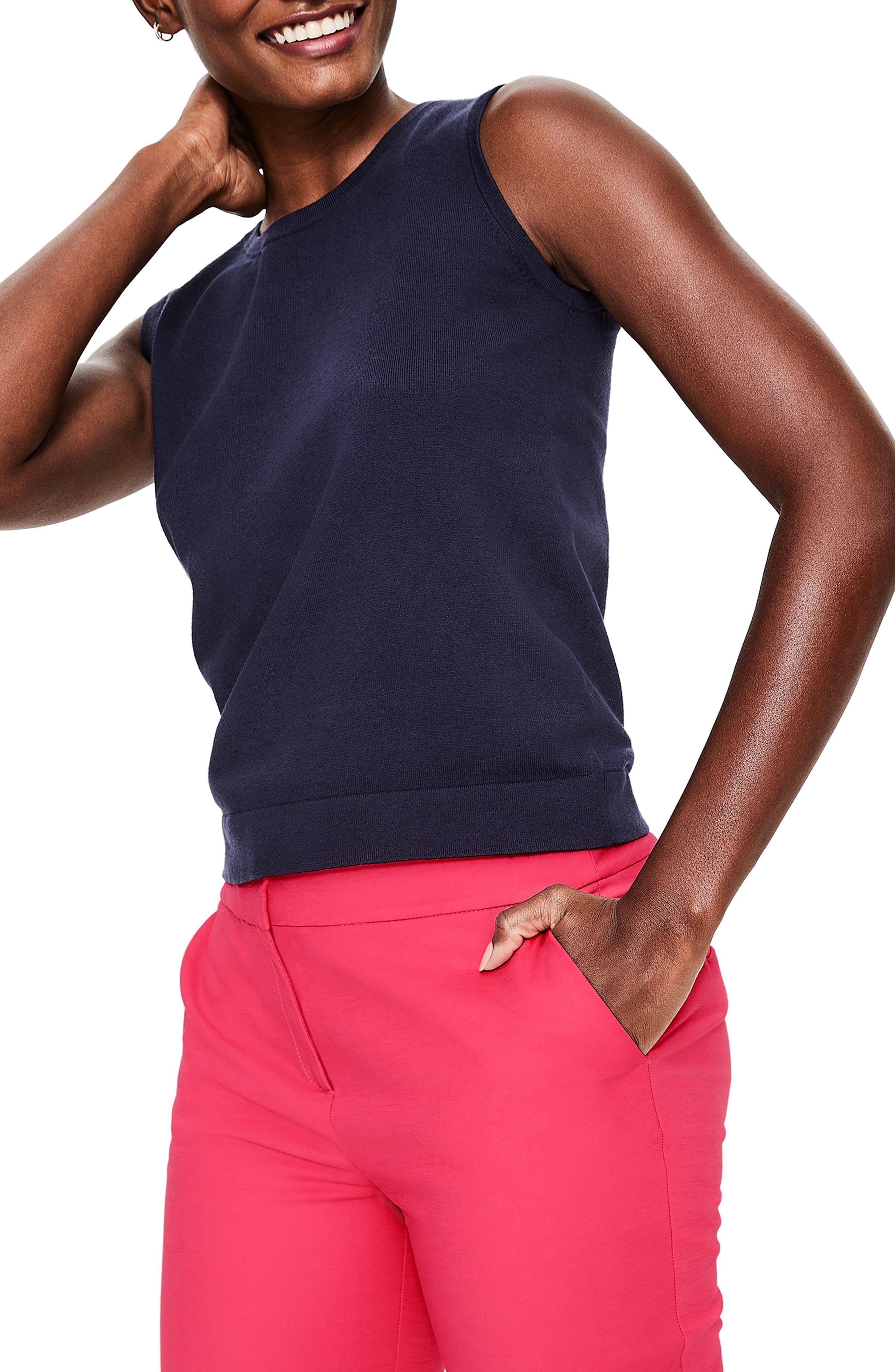 BODEN,                             Richmond Stretch Cotton Trousers,                             Alternate thumbnail 4, color,                             GARDEN ROSE
