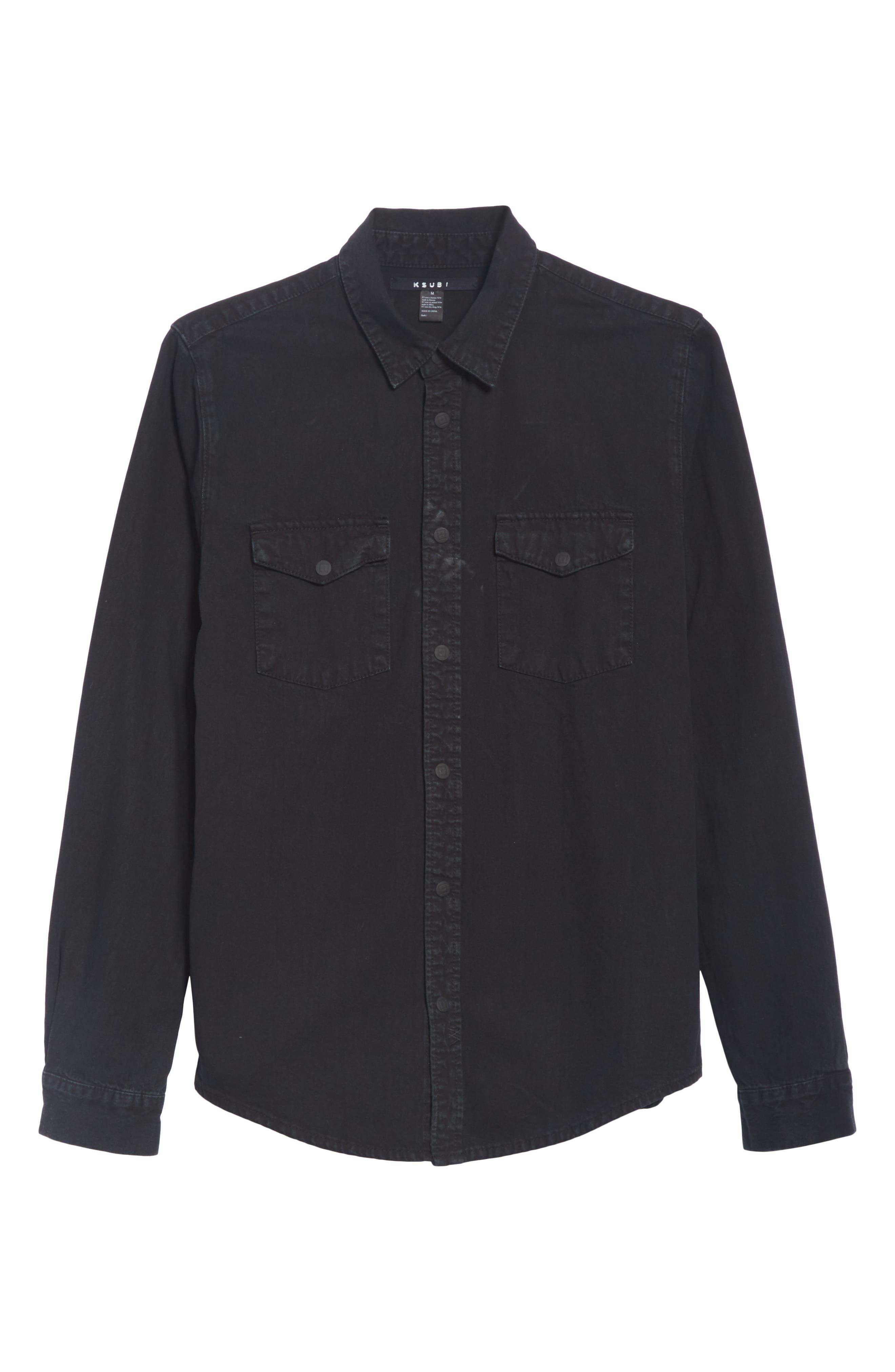 Frontier Work Shirt,                             Alternate thumbnail 6, color,                             BLACK