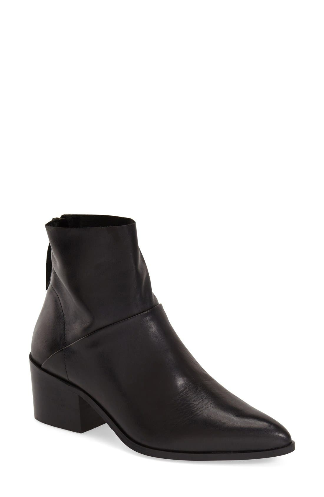 TOPSHOP 'Midnight' Pointy Toe Boot, Main, color, 001