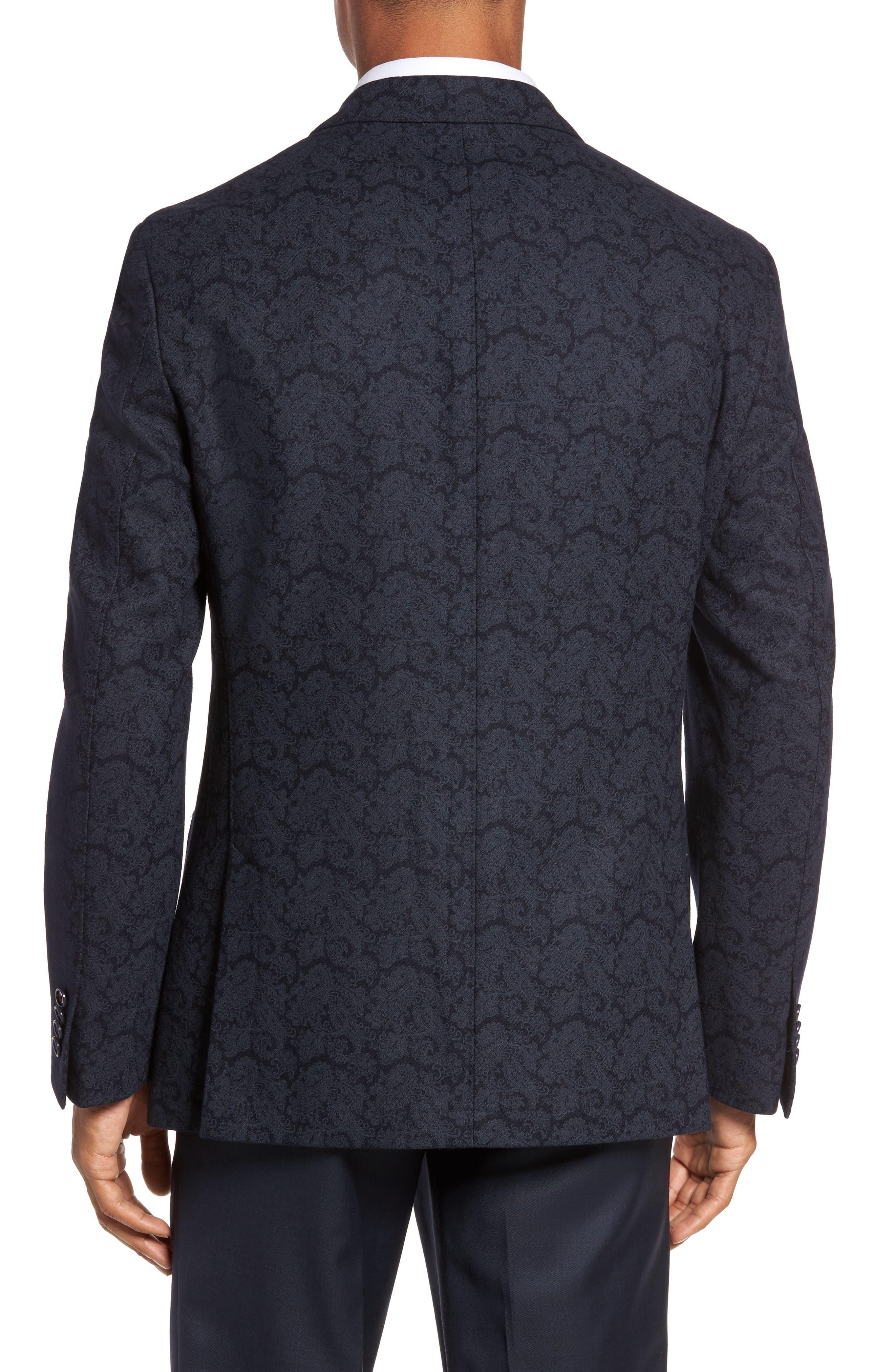 Trim Fit Paisley Wool Blend Sport Coat,                             Alternate thumbnail 2, color,                             403