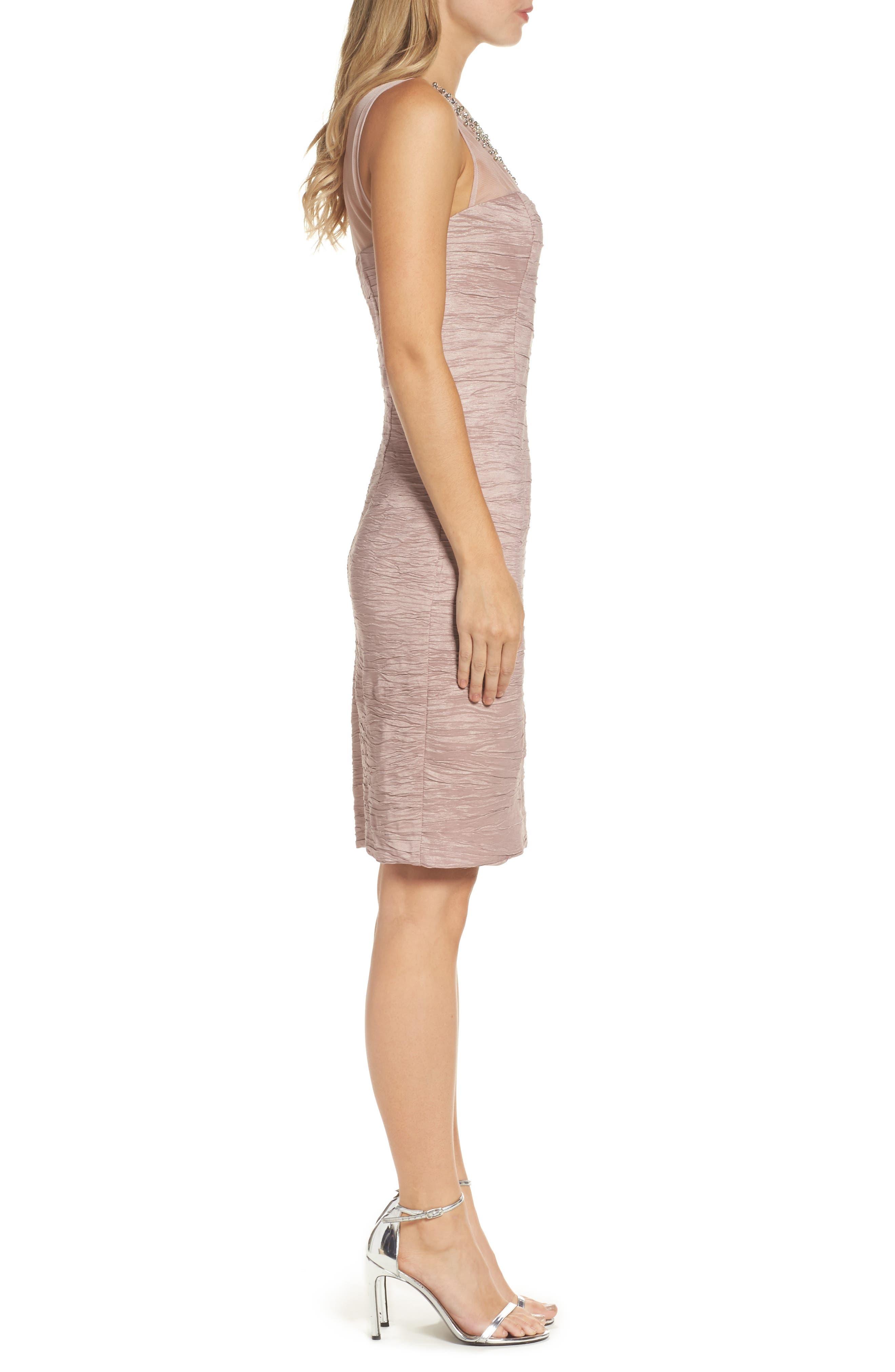 Metallic Sheath Dress,                             Alternate thumbnail 6, color,