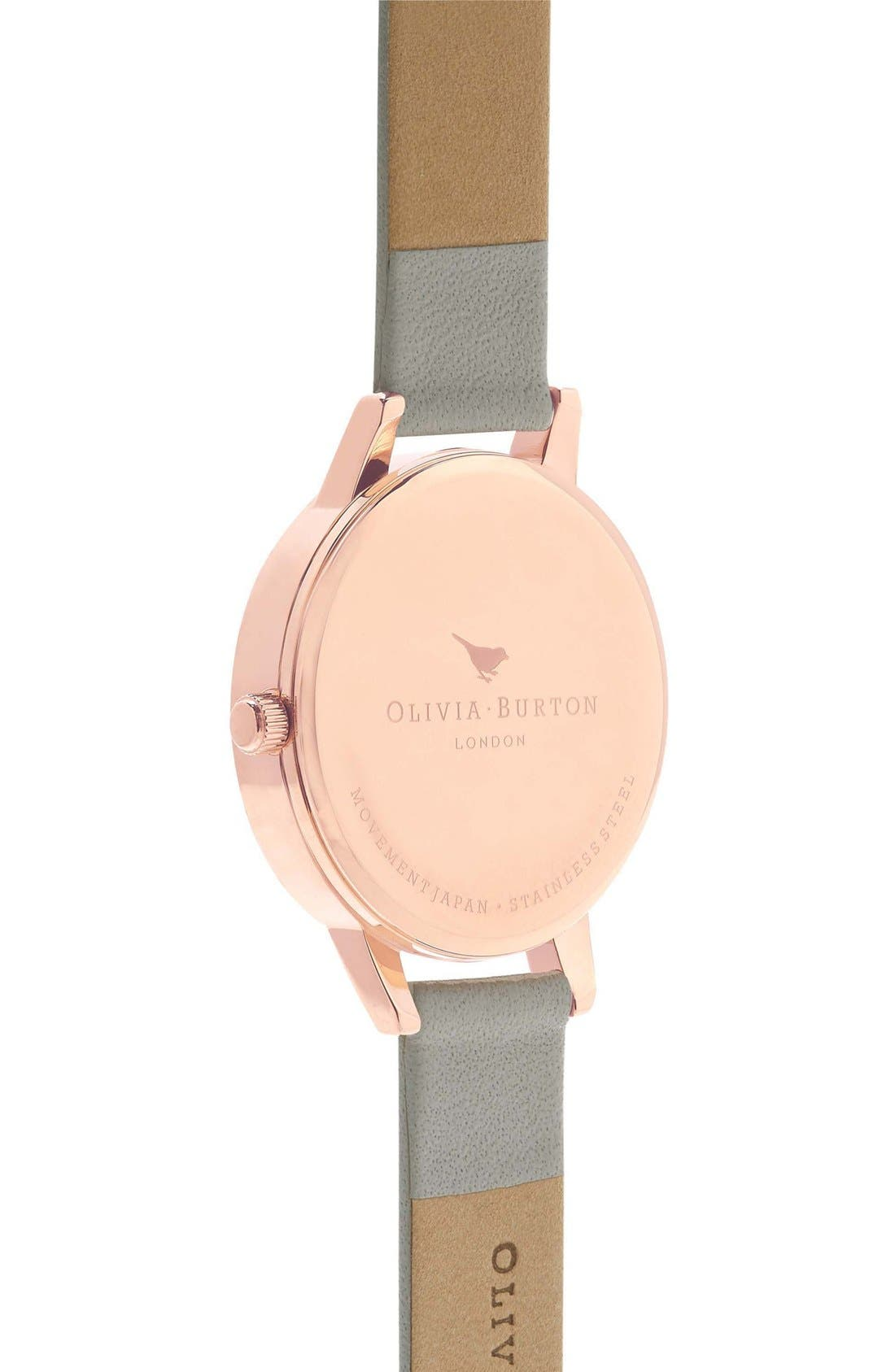 Lace Detail Leather Strap Watch, 30mm,                             Alternate thumbnail 4, color,                             020