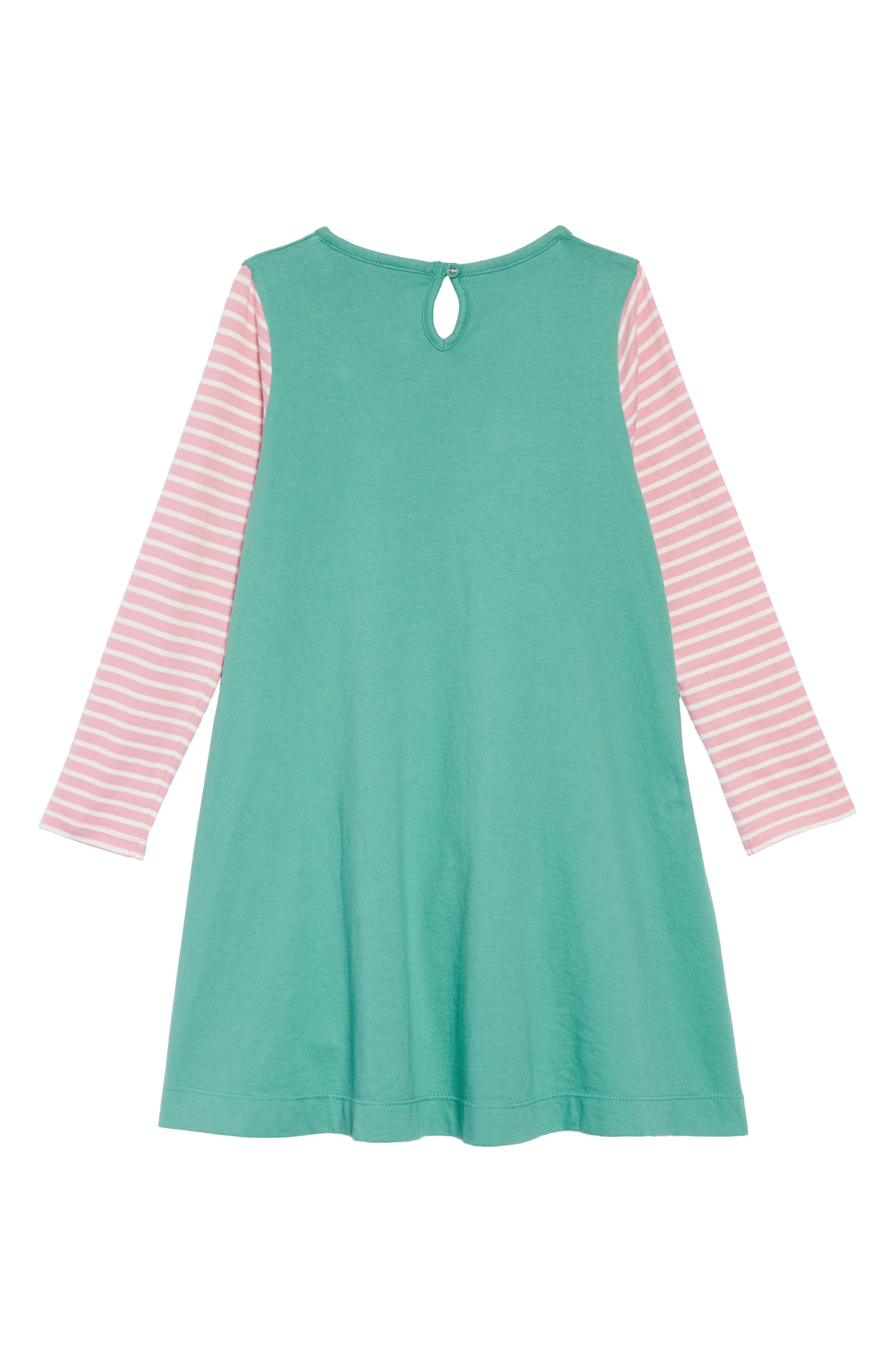 Big Appliqué Dress,                             Alternate thumbnail 2, color,                             JUNGLE GREEN PEGASUS