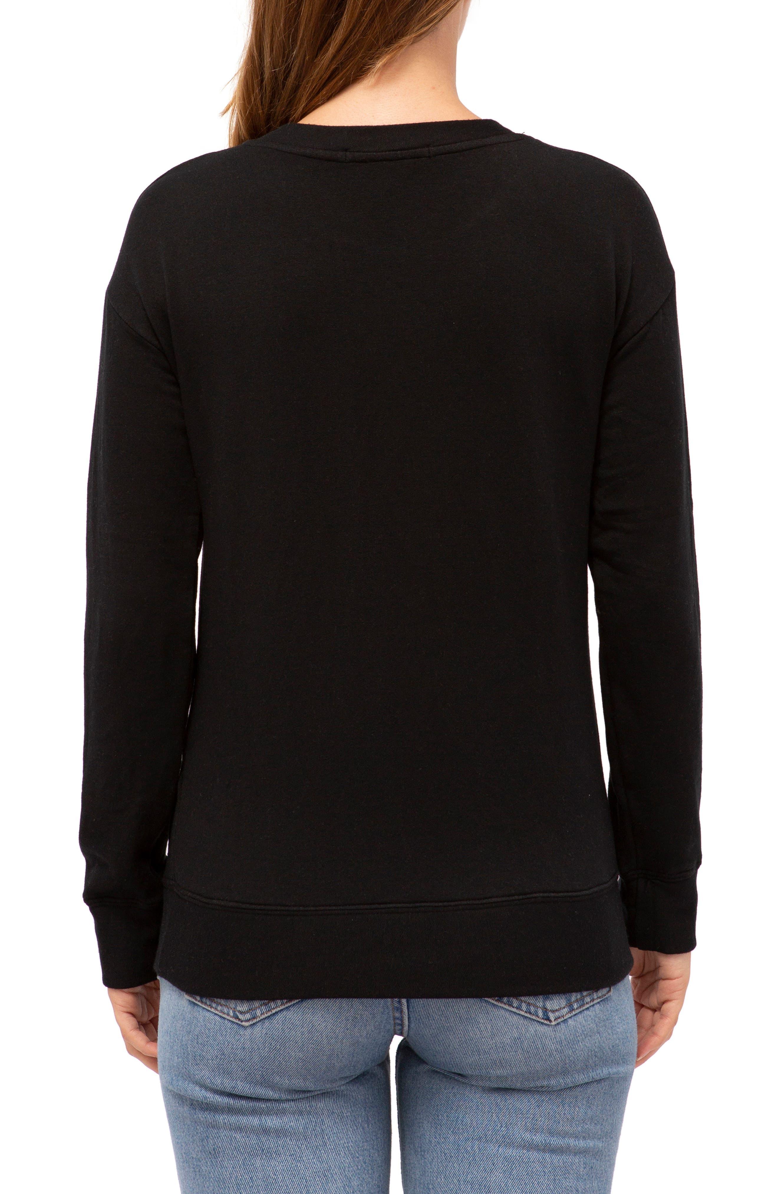 Fleece Pullover,                             Alternate thumbnail 2, color,                             BLACK