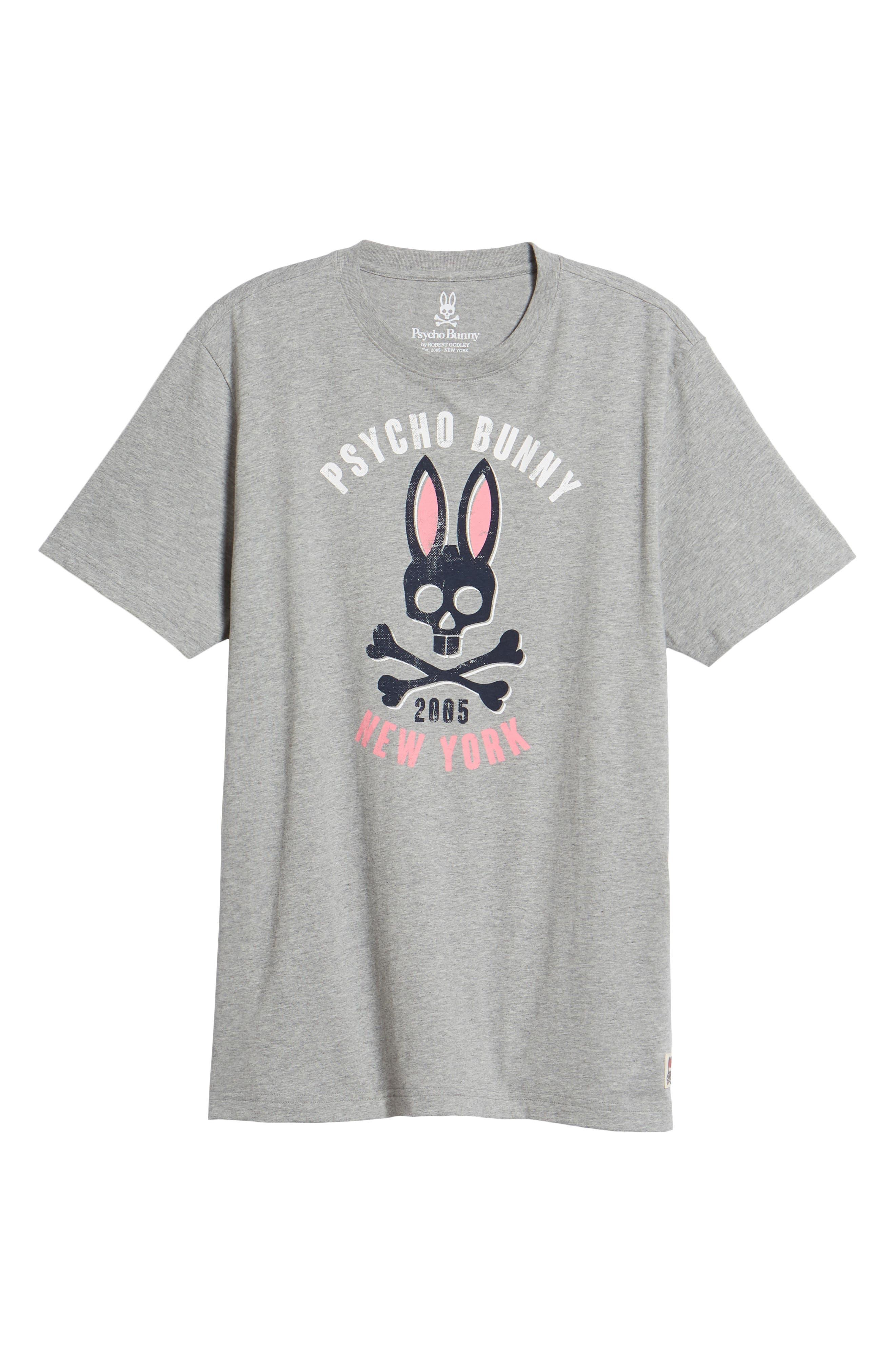 PSYCHO BUNNY,                             Print T-Shirt,                             Alternate thumbnail 6, color,                             063