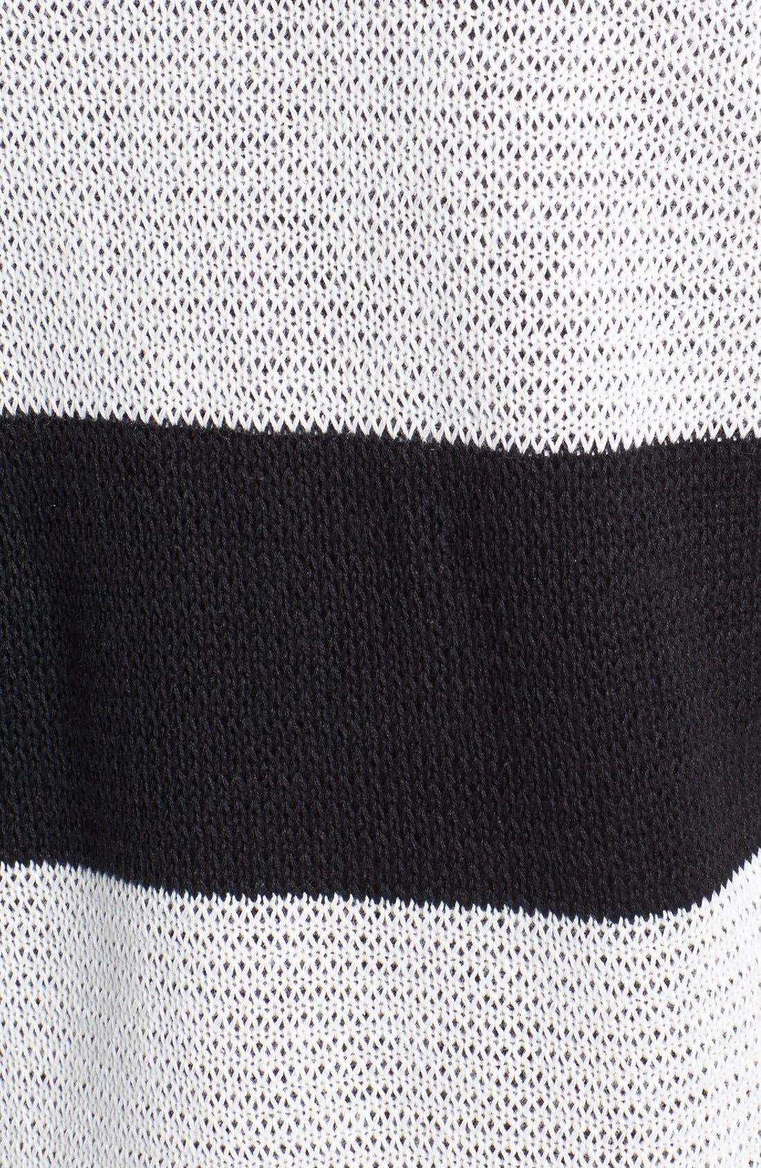 Wide Neck Stripe Sweater,                             Alternate thumbnail 2, color,                             002