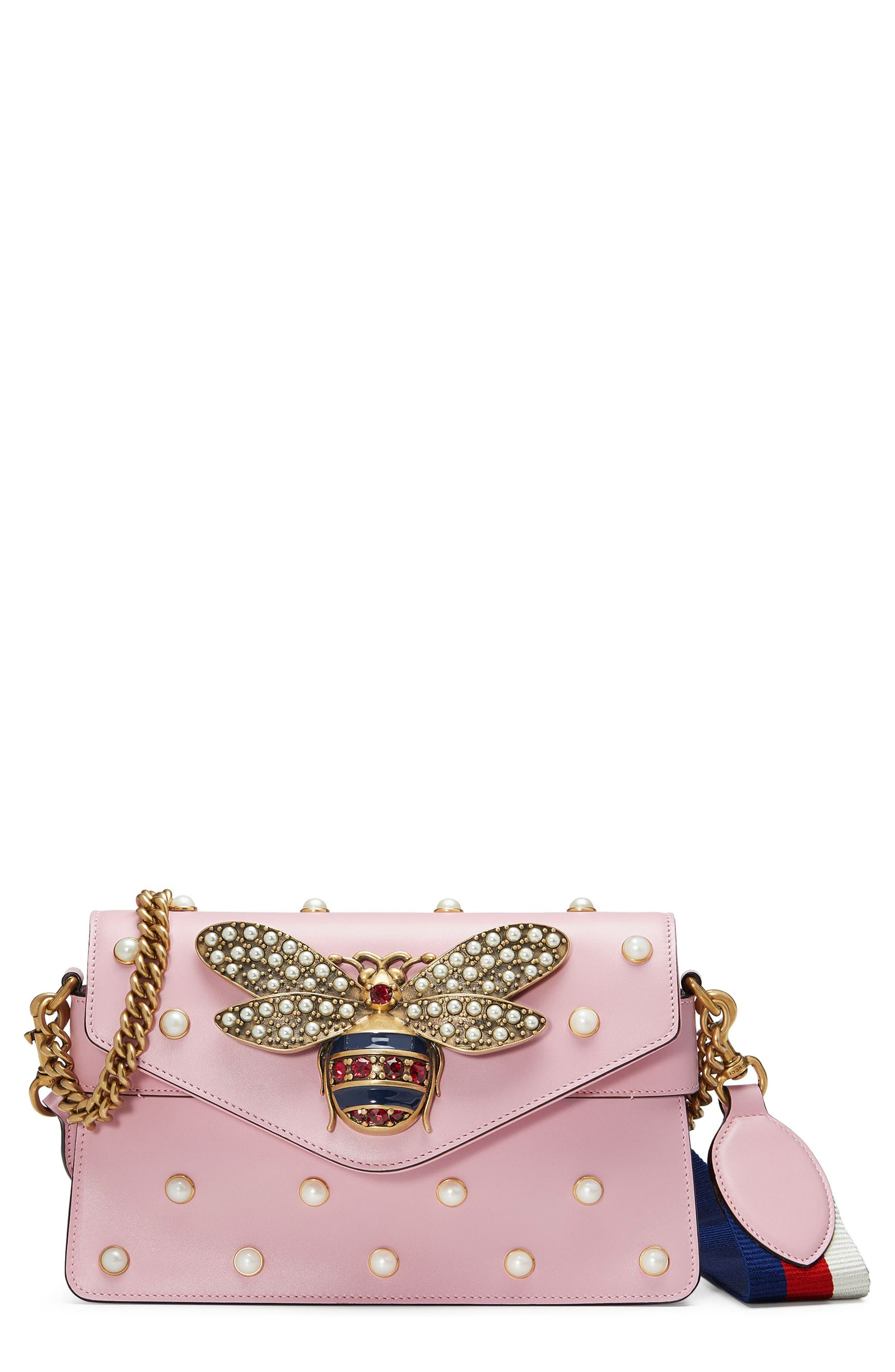 Mini Broadway Leather Shoulder Bag,                             Main thumbnail 1, color,                             653