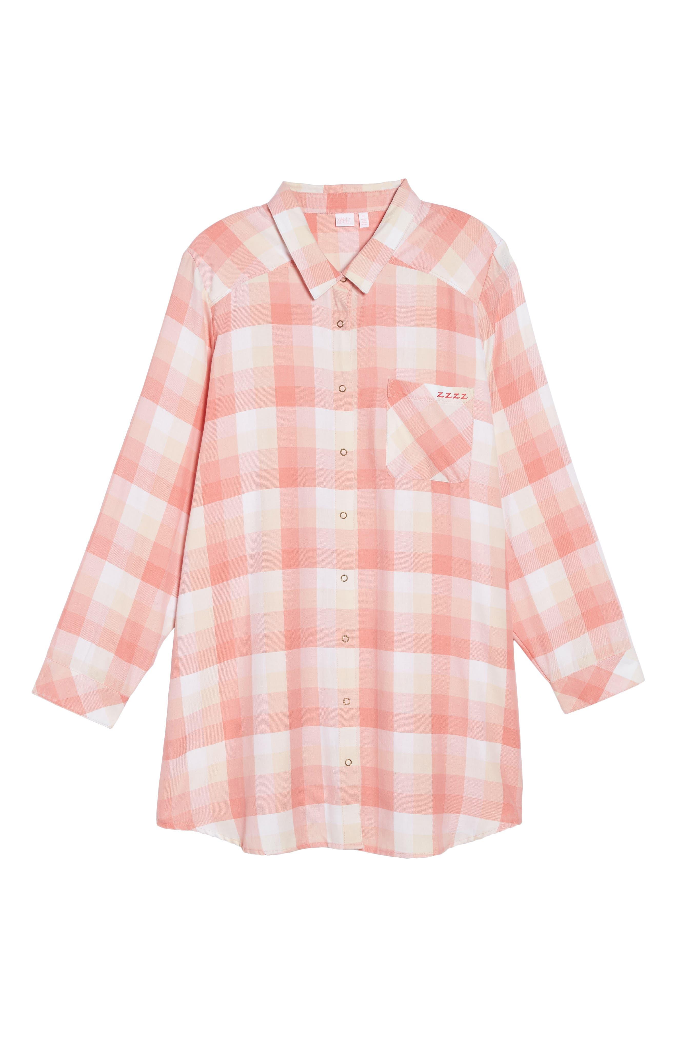 Plaid Night Shirt,                             Alternate thumbnail 33, color,