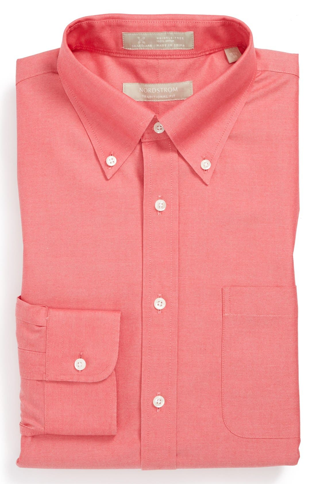 Smartcare<sup>™</sup> Traditional Fit Pinpoint Dress Shirt,                             Main thumbnail 30, color,