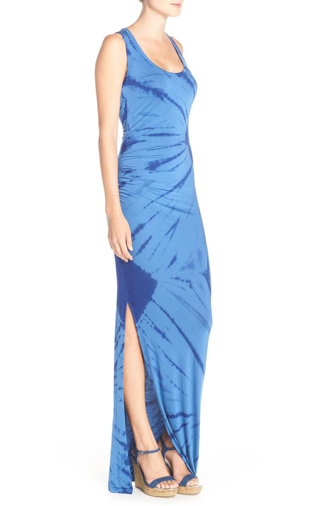 Tie Dye Tank Maxi Dress,                             Alternate thumbnail 3, color,                             400
