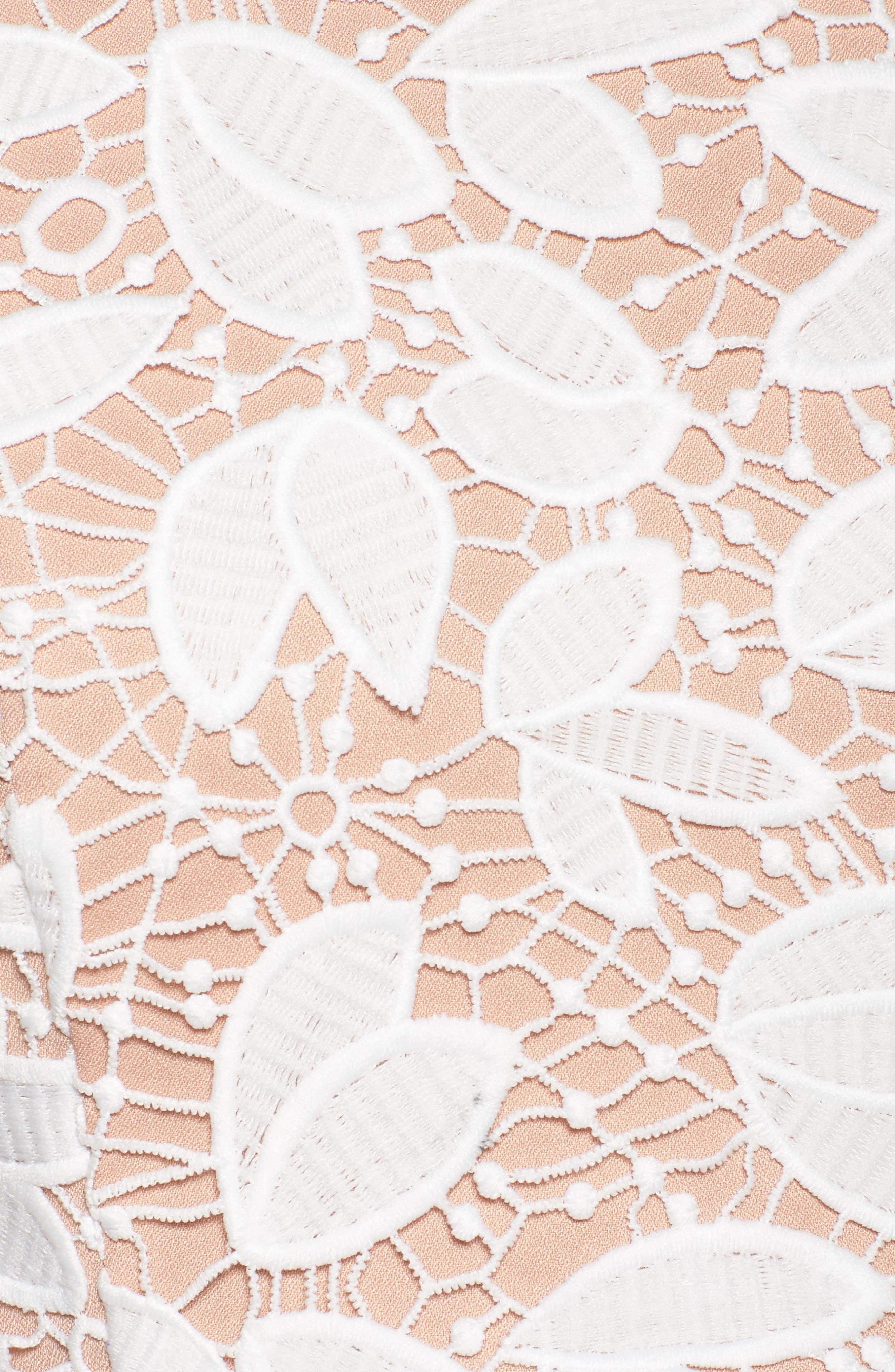 Petal Lace Gown,                             Alternate thumbnail 5, color,                             IVORY