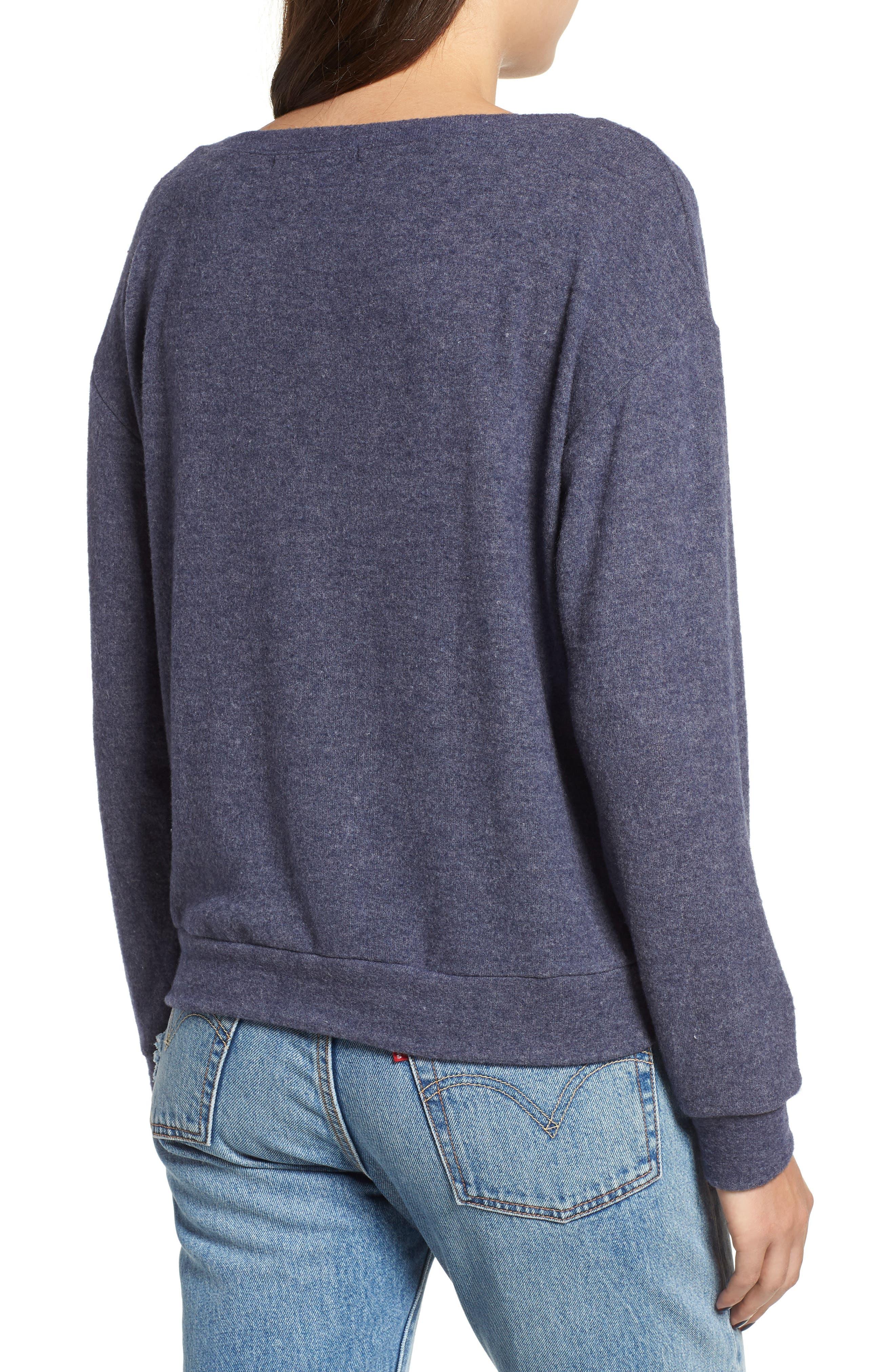 Keys Sweatshirt,                             Alternate thumbnail 2, color,                             HEATHER NAVY
