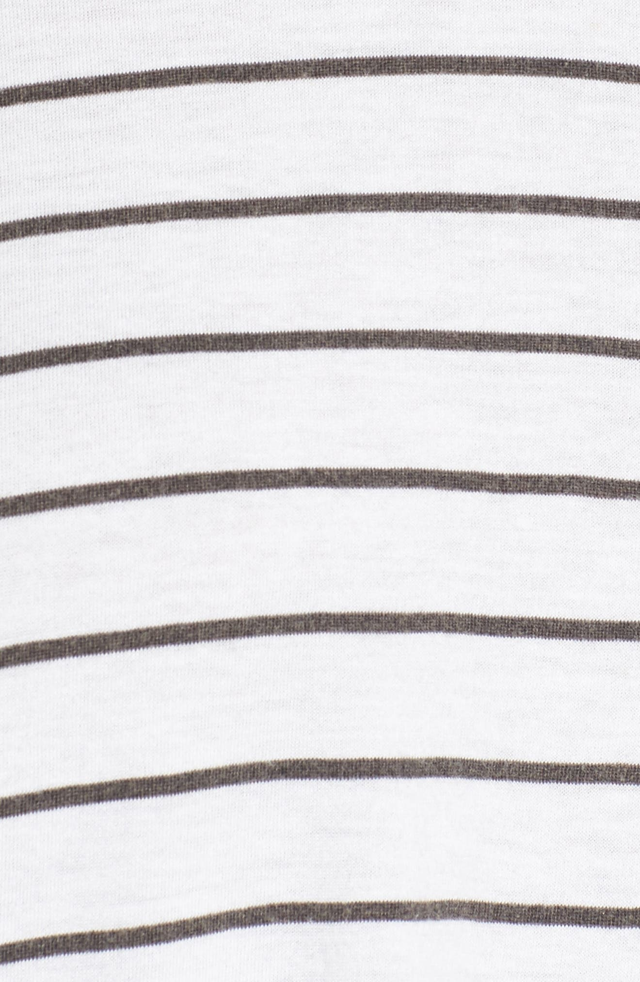 Cotton & Modal Sharkbite Hem Tee,                             Alternate thumbnail 5, color,                             100