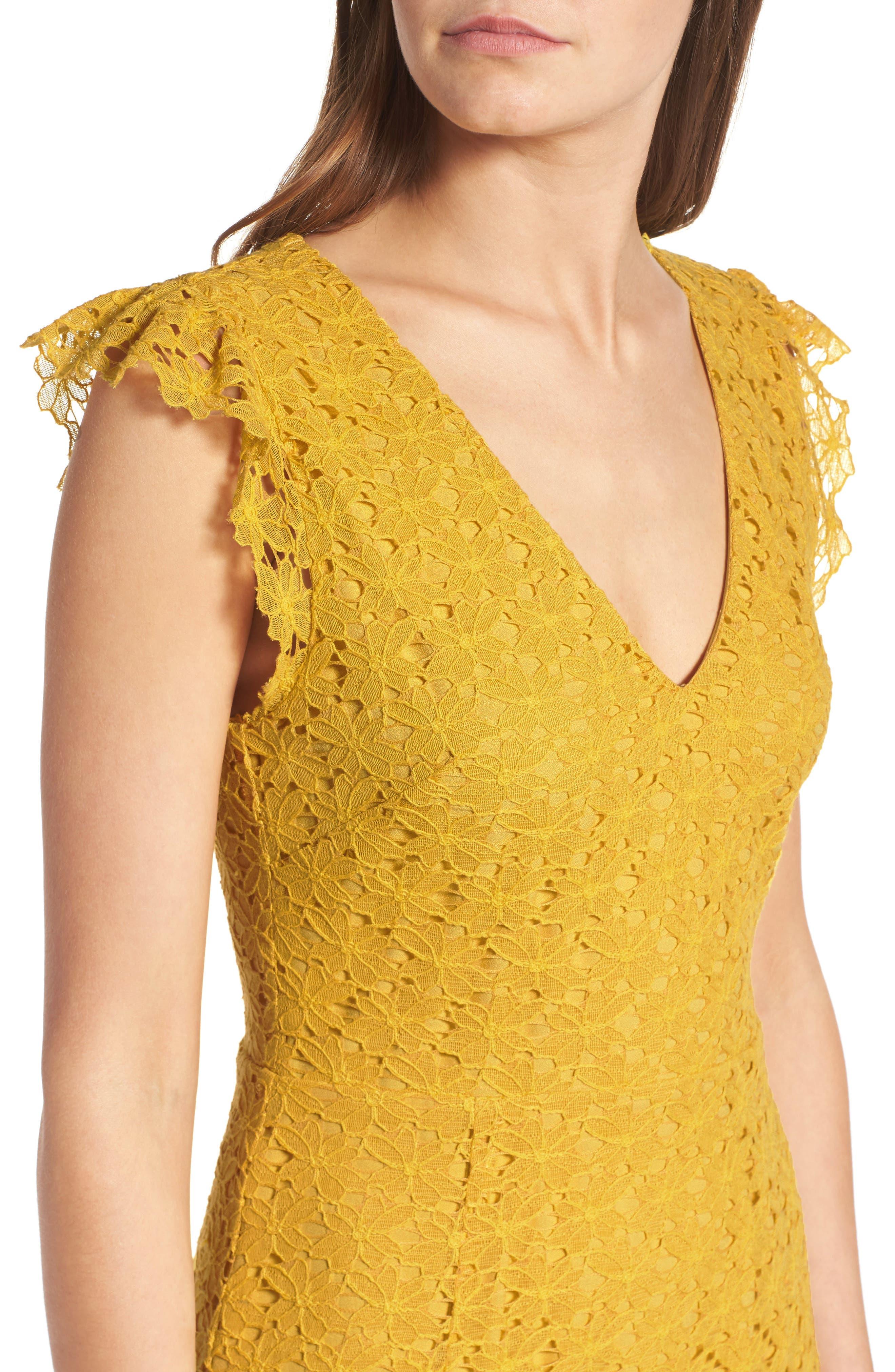 Lace Sheath Dress,                             Alternate thumbnail 4, color,                             745