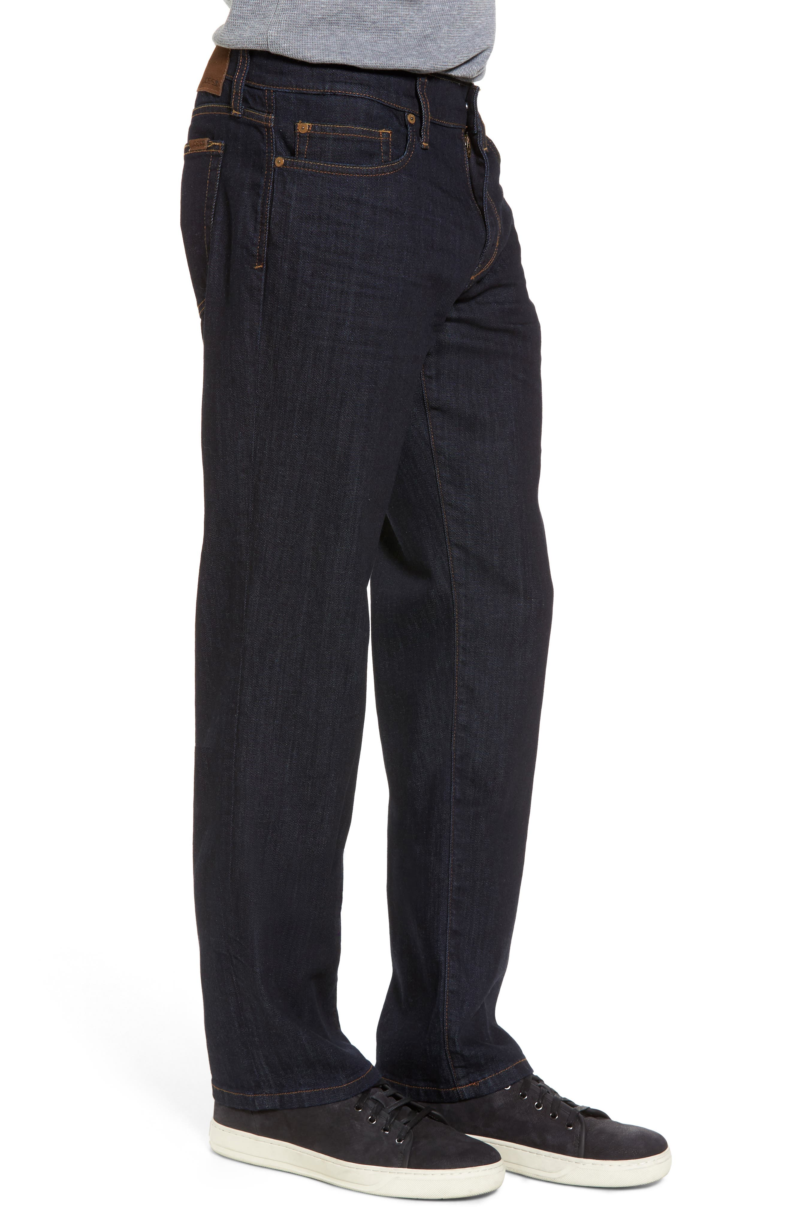 Classic Straight Fit Jeans,                             Alternate thumbnail 3, color,                             400