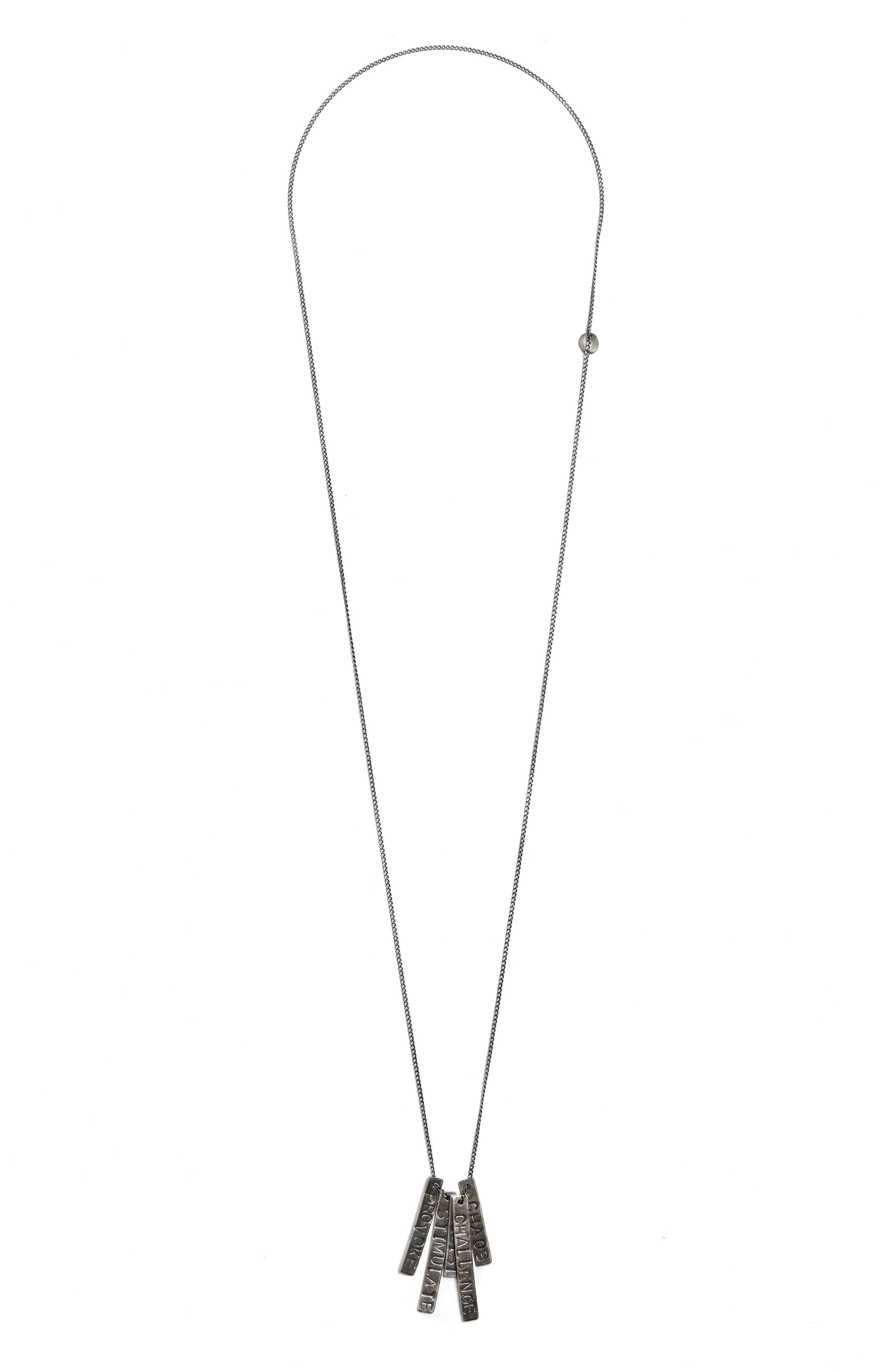 Provoke/Stimulate ID Tag Necklace,                             Main thumbnail 1, color,                             SILVER