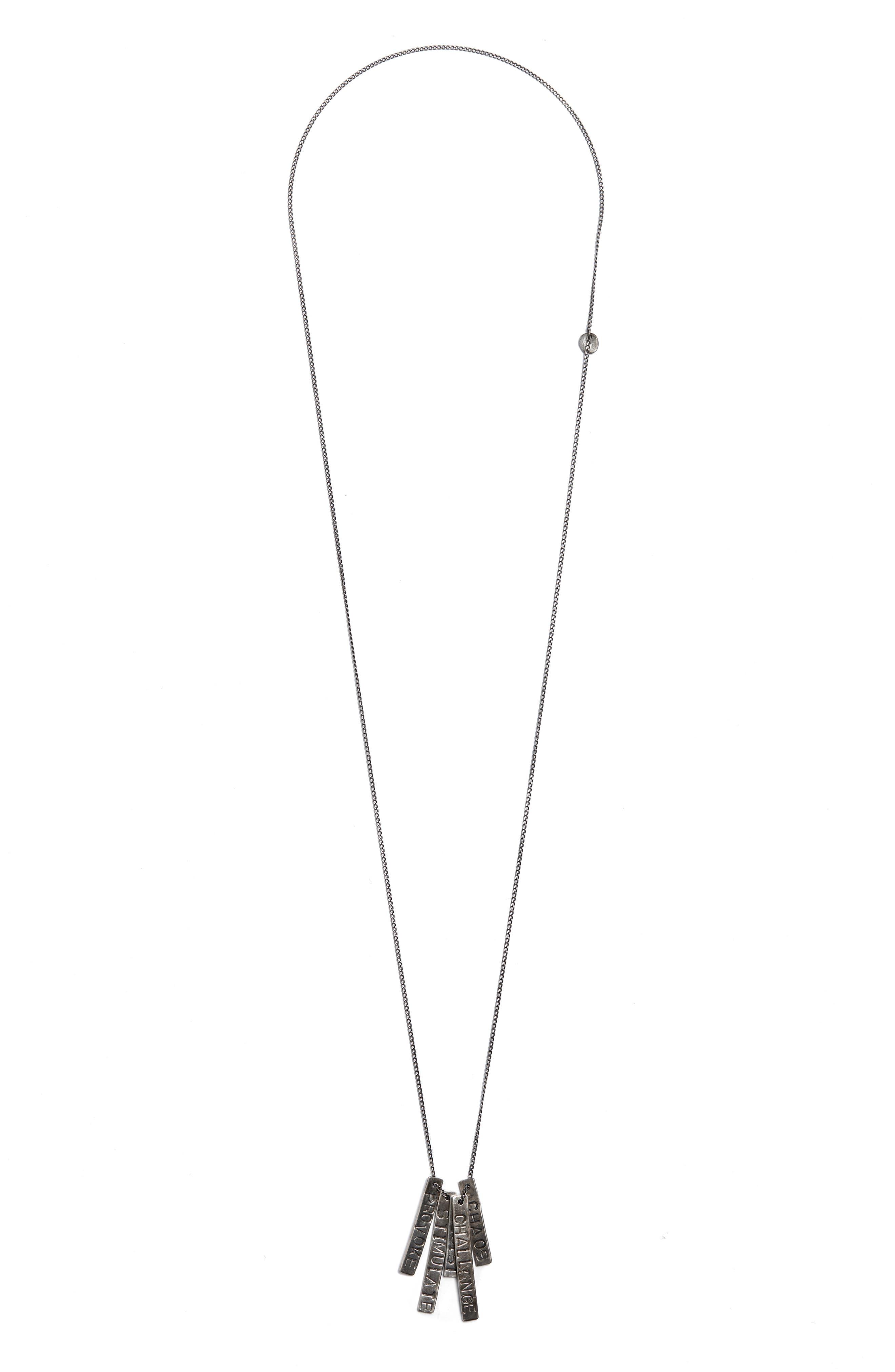 Provoke/Stimulate ID Tag Necklace,                         Main,                         color, SILVER