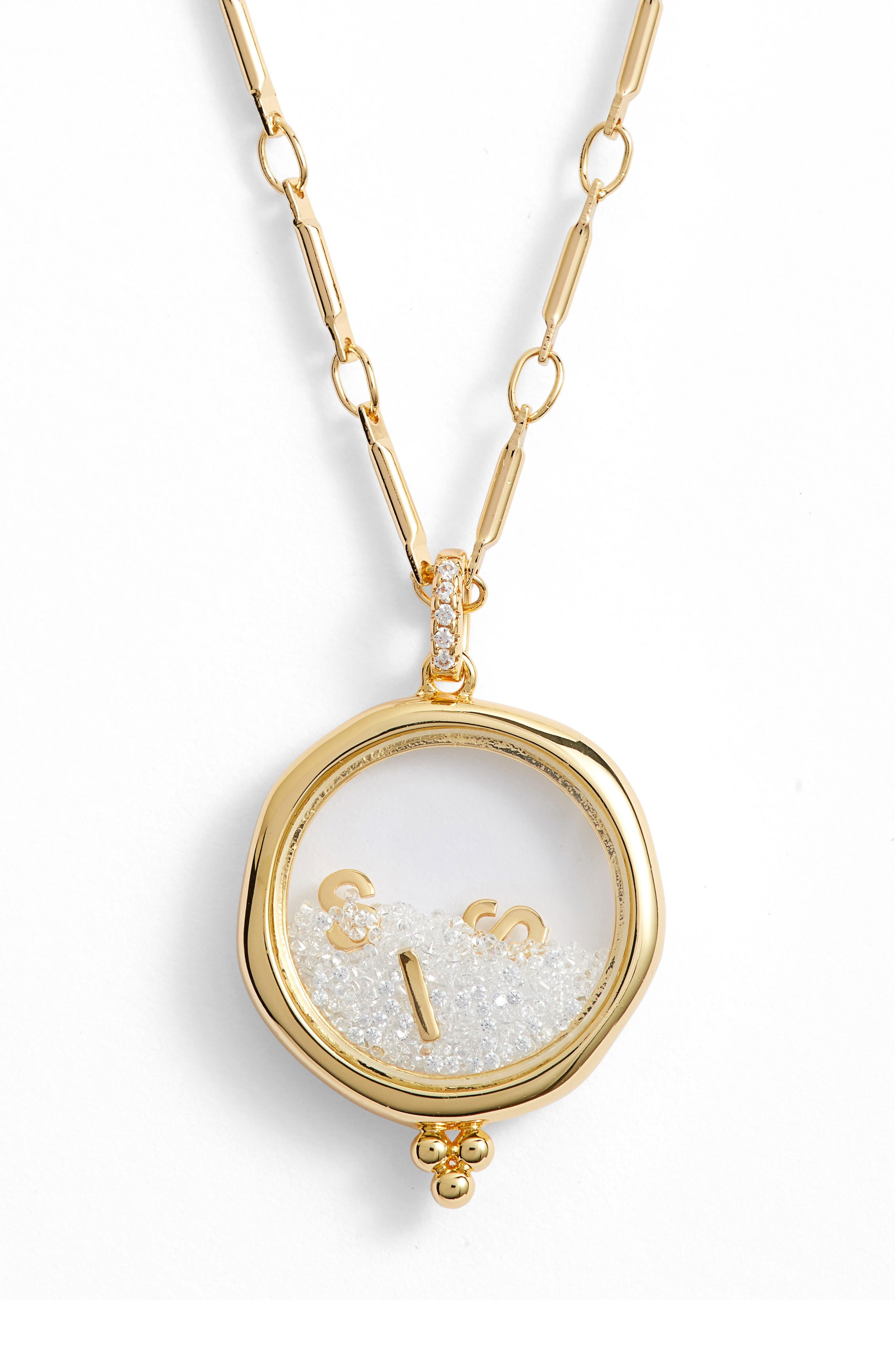 LULU DK X Kristina Schulman Sisters Shaker Pendant Necklace in Gold