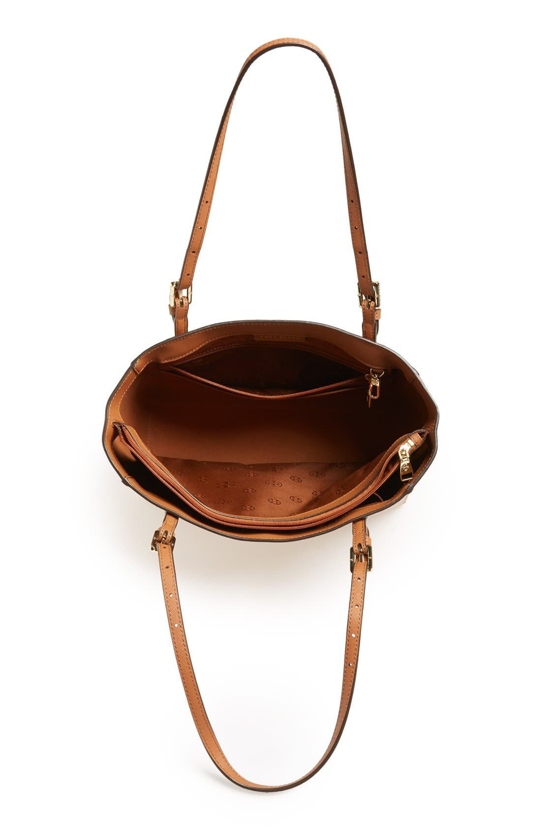'Small York' Saffiano Leather Buckle Tote,                             Alternate thumbnail 44, color,