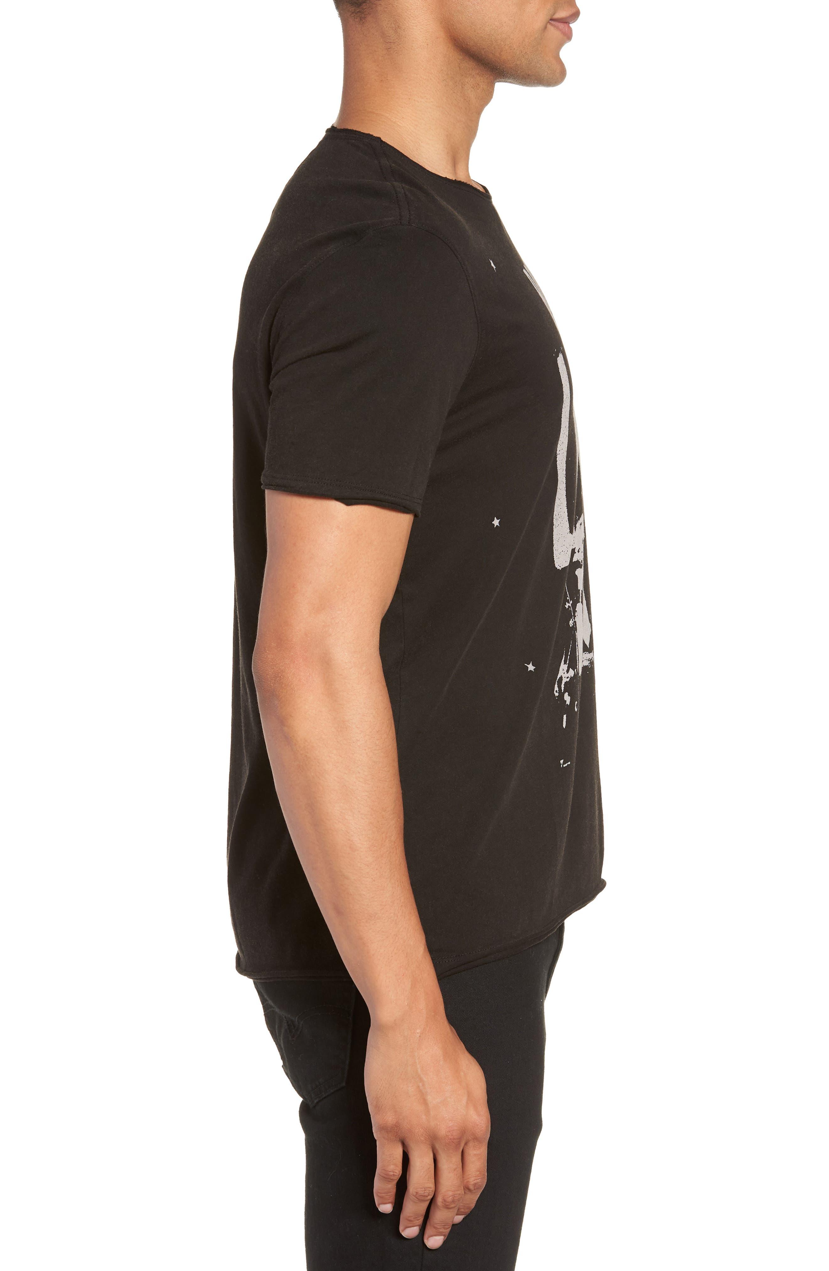 Bowery Live Graphic T-Shirt,                             Alternate thumbnail 3, color,                             BLACK