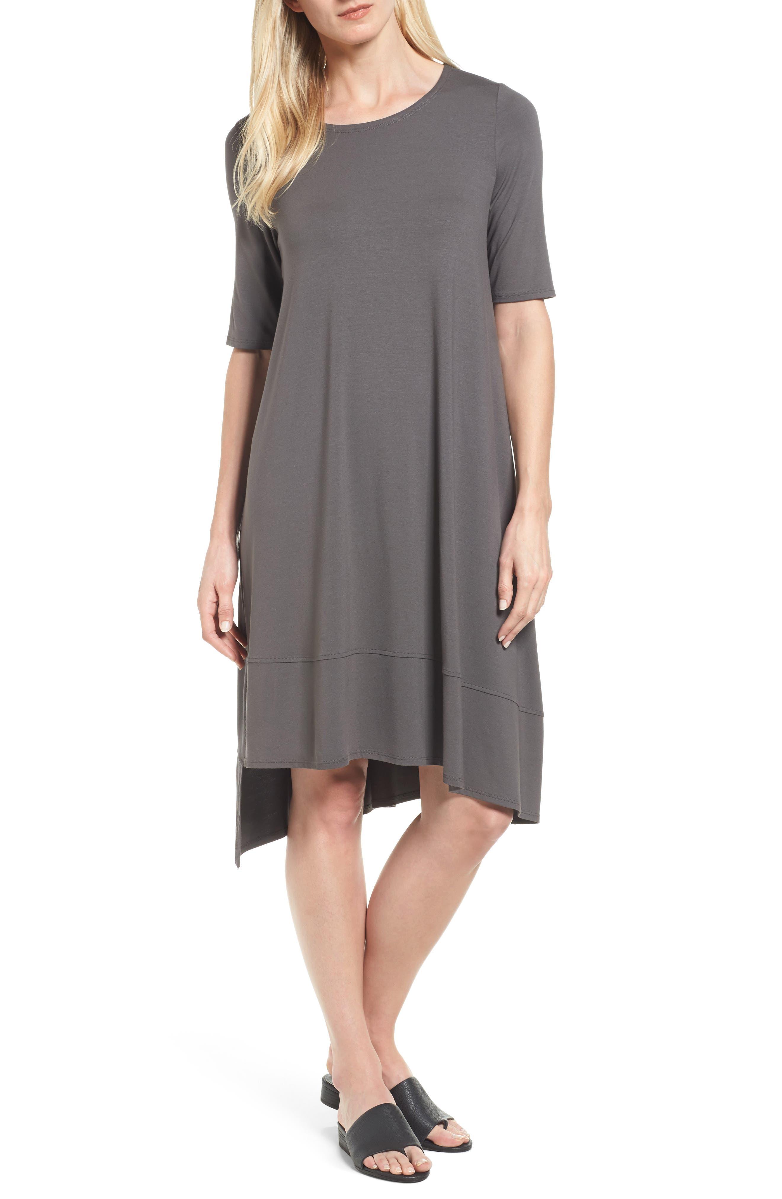 Jersey Asymmetrical A-Line Dress,                             Main thumbnail 2, color,