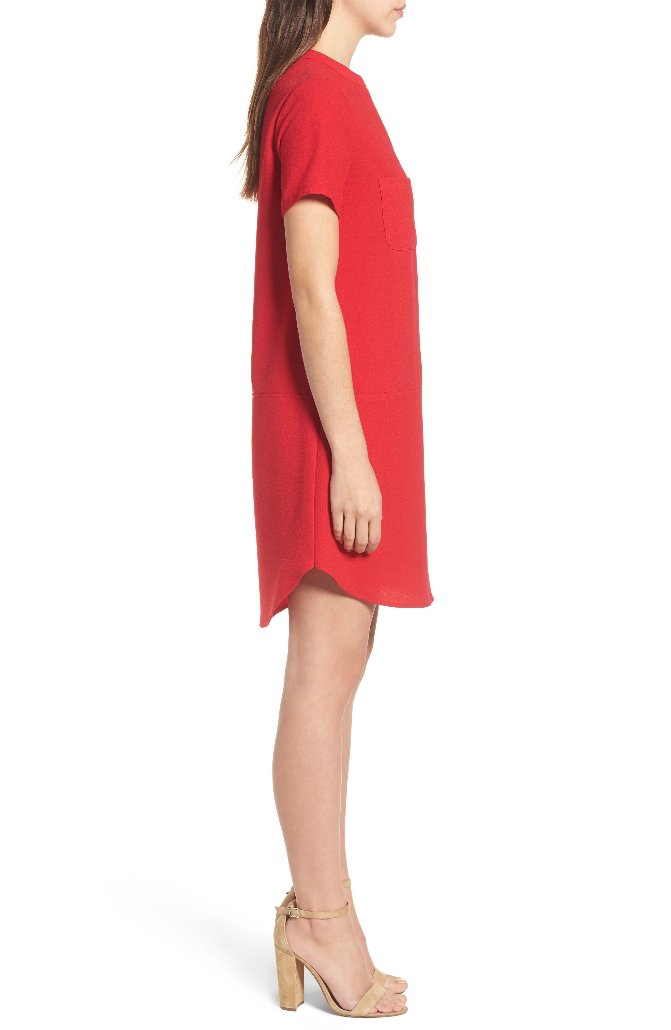 Hailey Crepe Dress,                             Alternate thumbnail 75, color,