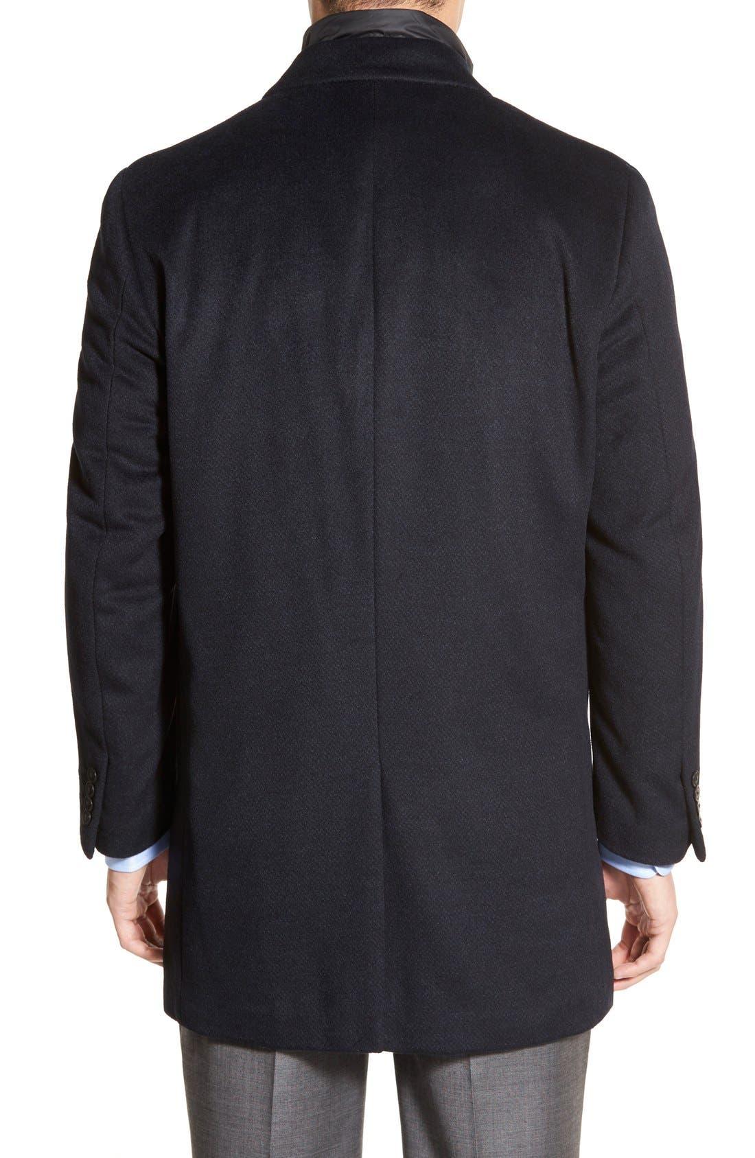 Kingman Modern Fit Wool Blend Coat with Removable Zipper Bib,                             Alternate thumbnail 4, color,