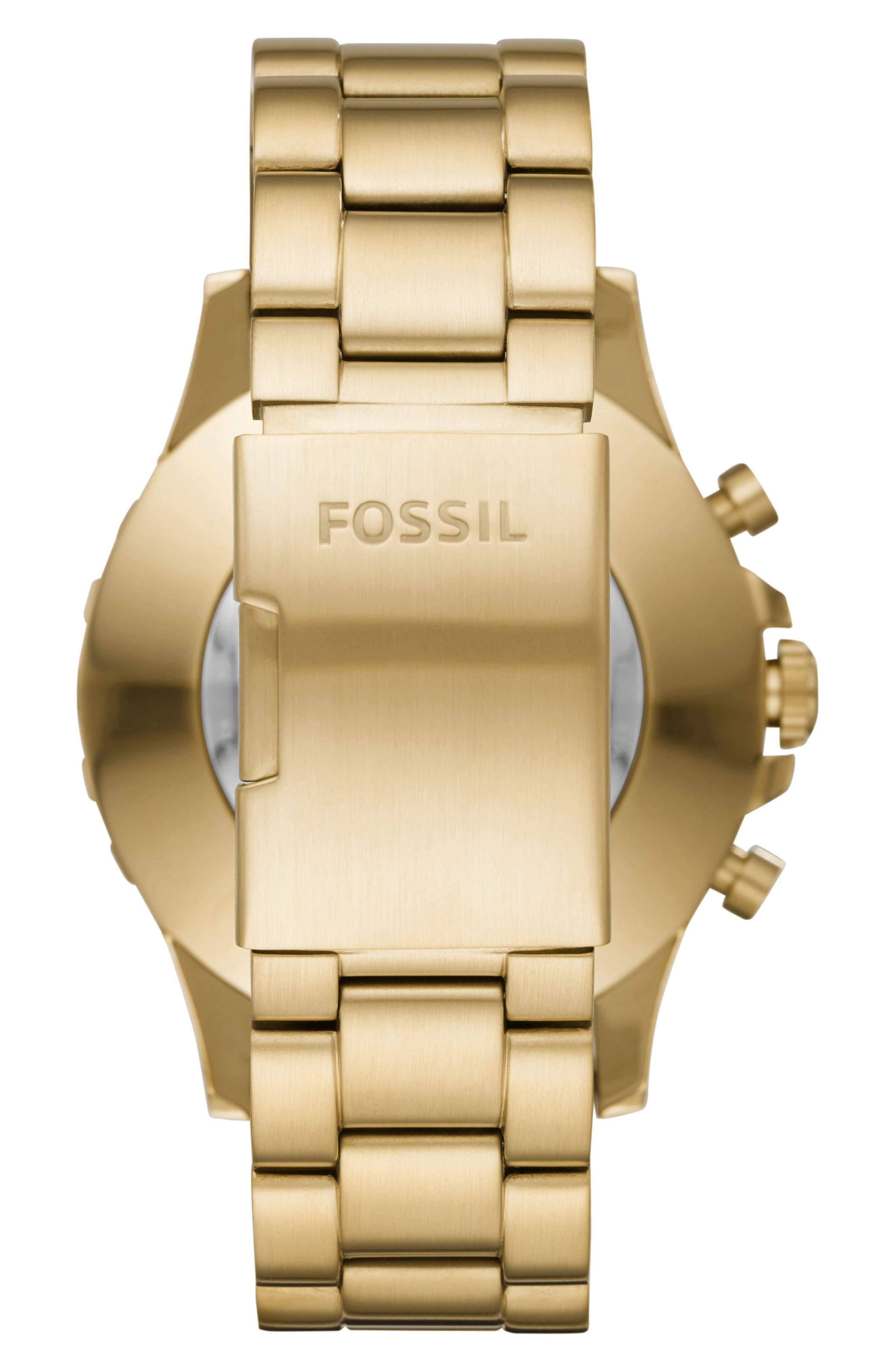 Nate Bracelet Hybrid Smart Watch, 50mm,                             Alternate thumbnail 2, color,                             GOLD