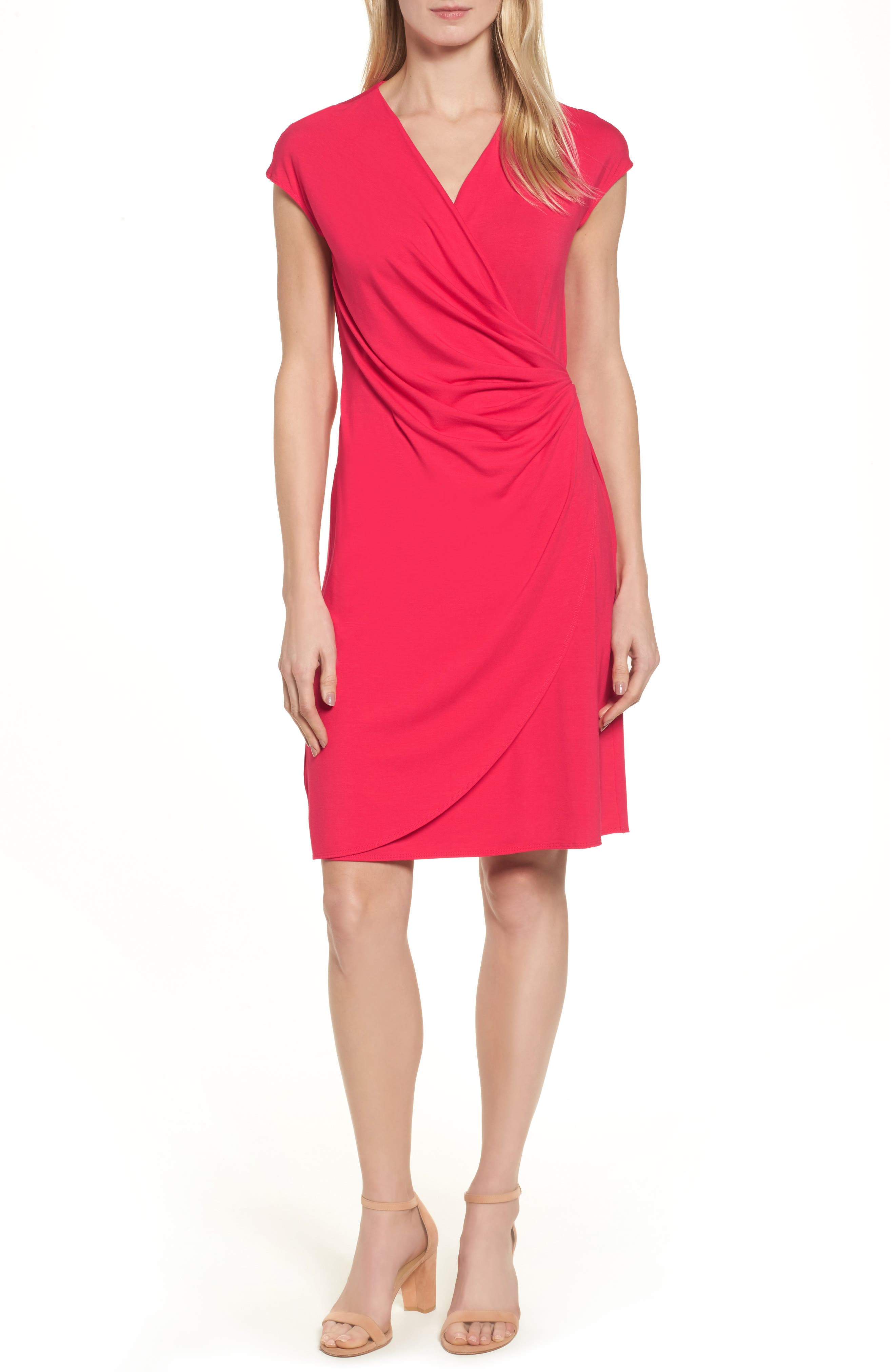 'Tambour' Side Gathered Dress,                             Main thumbnail 4, color,