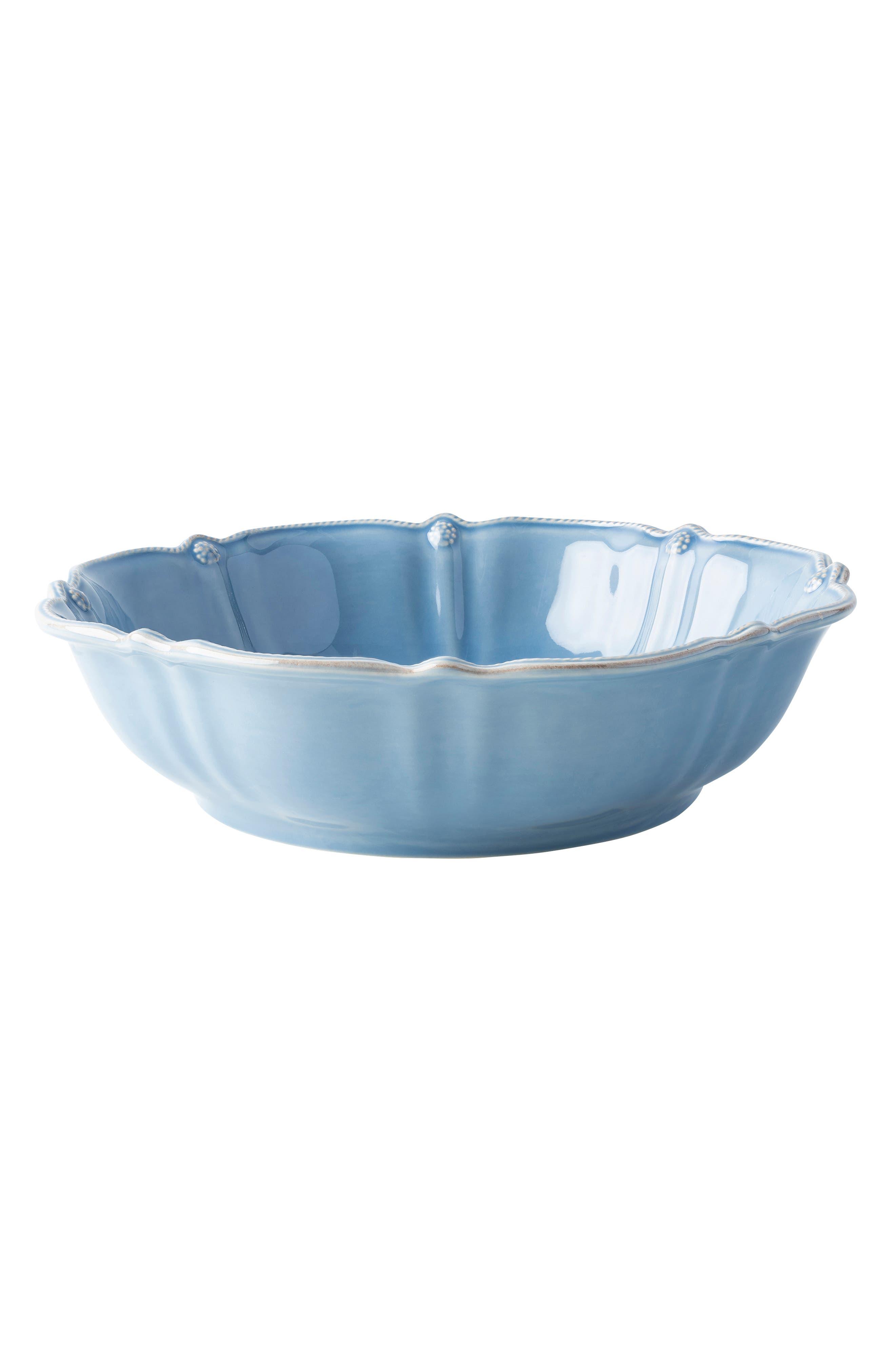 Juliska Berry  Thread Ceramic Serving Bowl Size One Size  Blue