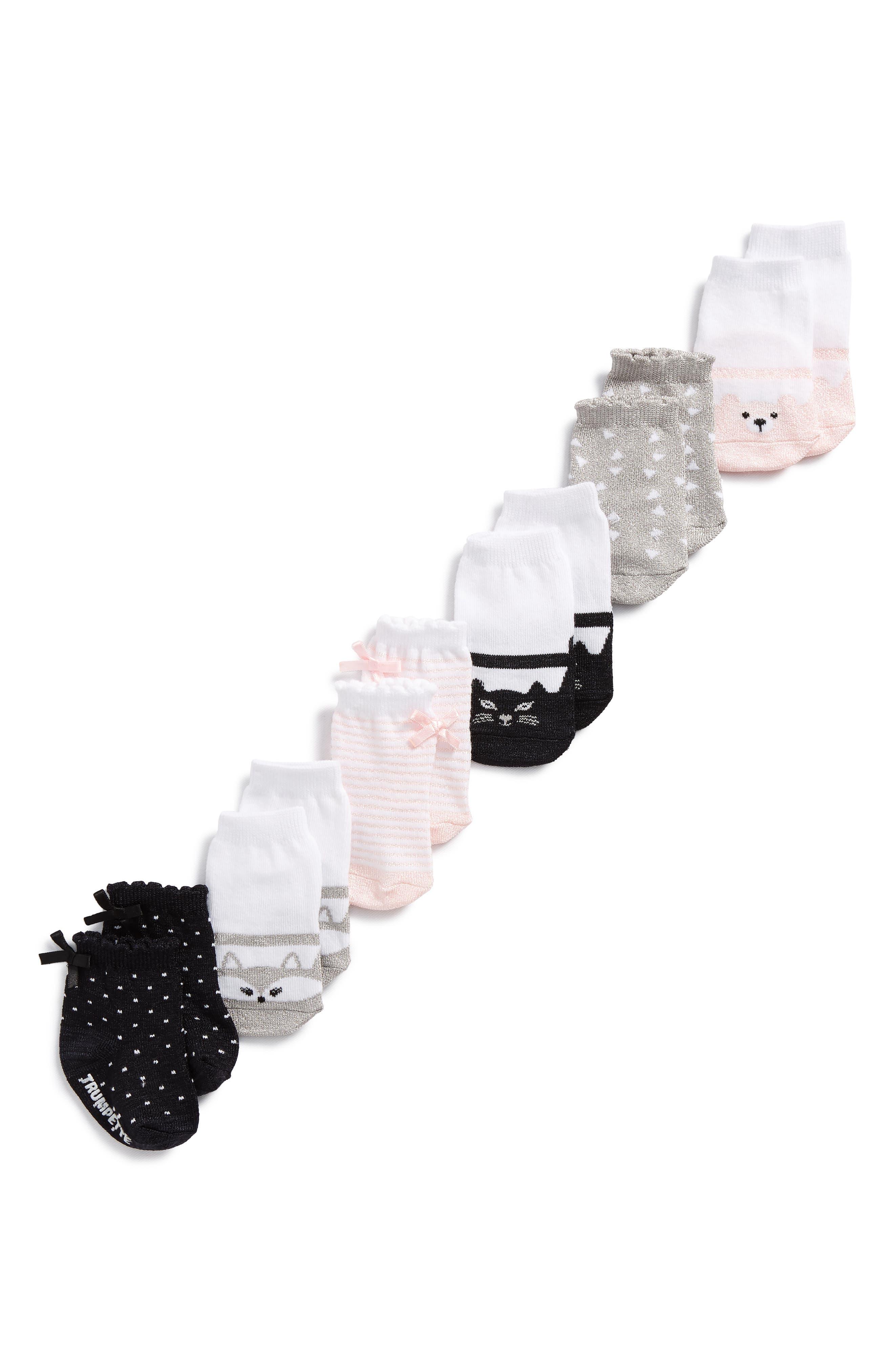 Ella's 6-Pack Socks,                             Alternate thumbnail 2, color,                             100