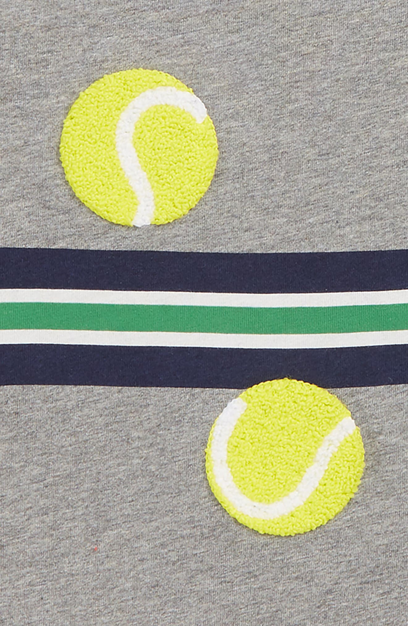 Stripy Tennis Sports T-Shirt,                             Alternate thumbnail 2, color,                             054