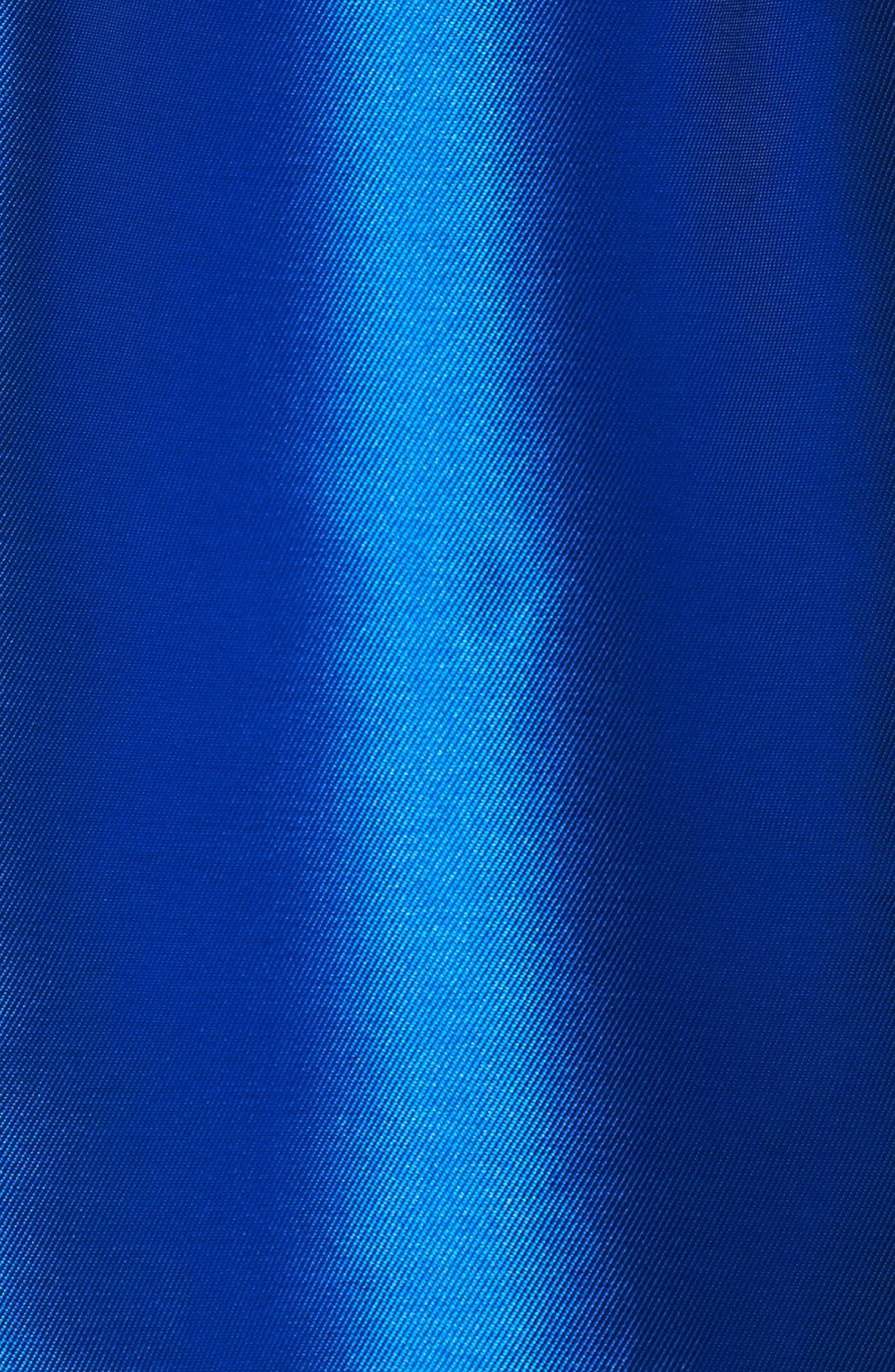 Appliquéd One Shoulder Ballgown,                             Alternate thumbnail 5, color,                             460