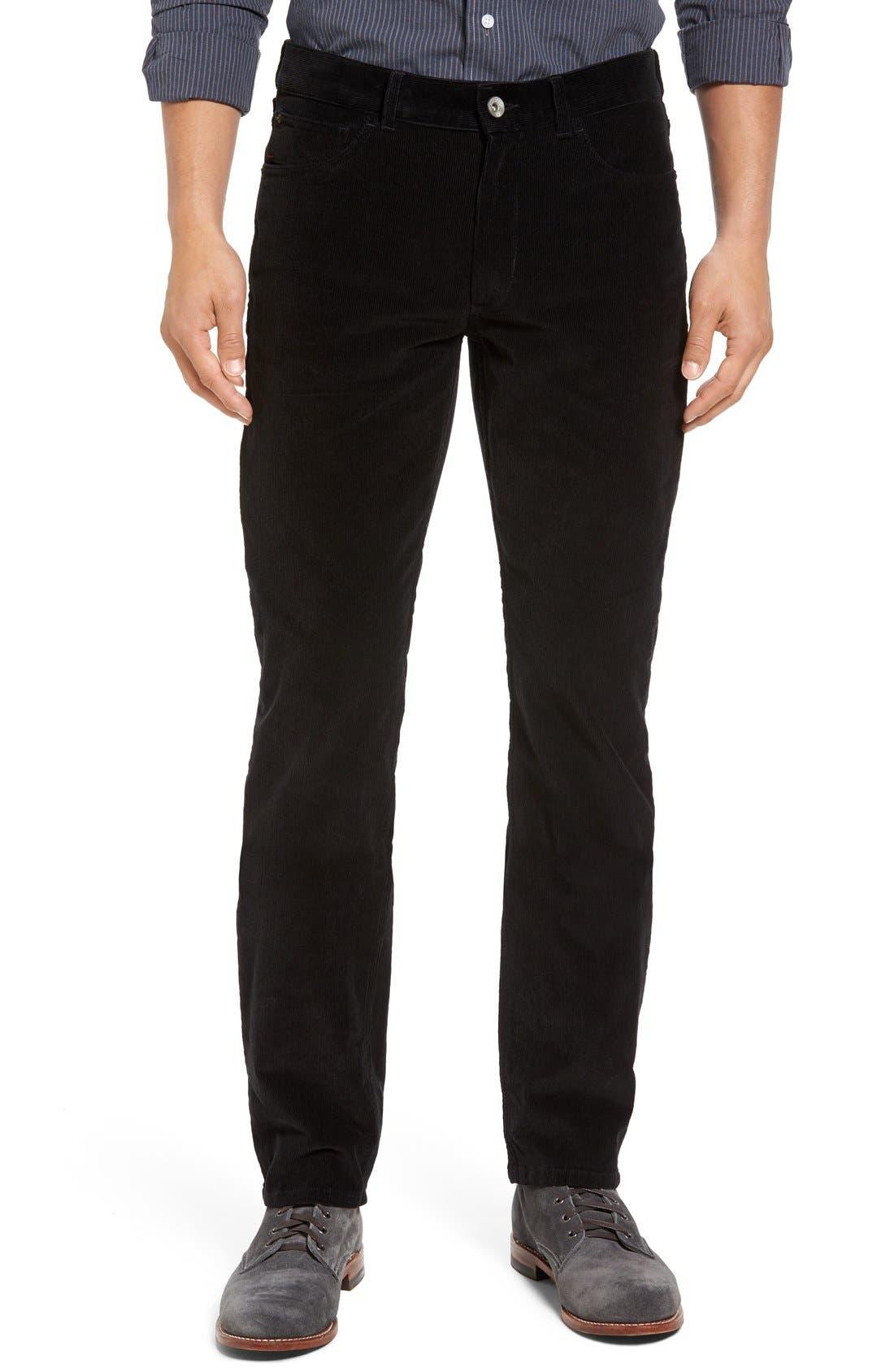 Industrialist Slim Fit Corduroy Pants,                             Main thumbnail 1, color,                             001