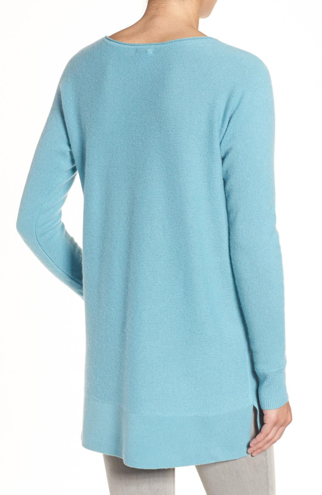 High/Low Wool & Cashmere Tunic Sweater,                             Alternate thumbnail 28, color,