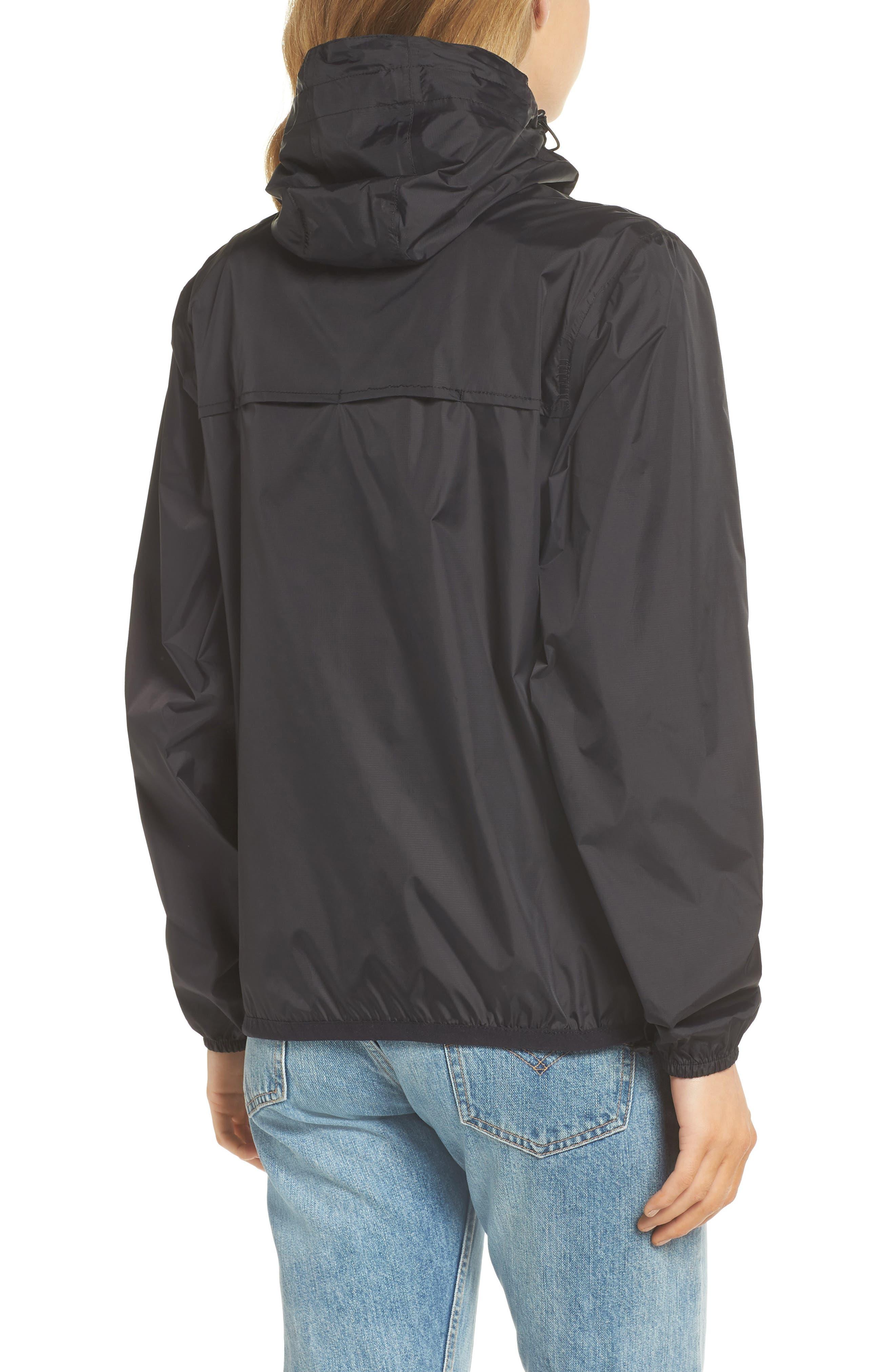 Packable Rain Jacket,                             Alternate thumbnail 2, color,                             BLACK