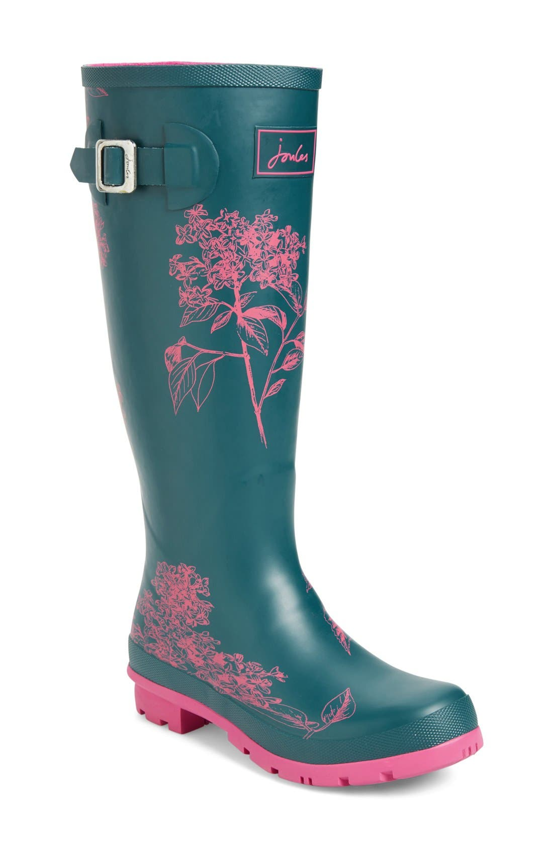 'Welly' Print Rain Boot,                             Main thumbnail 34, color,