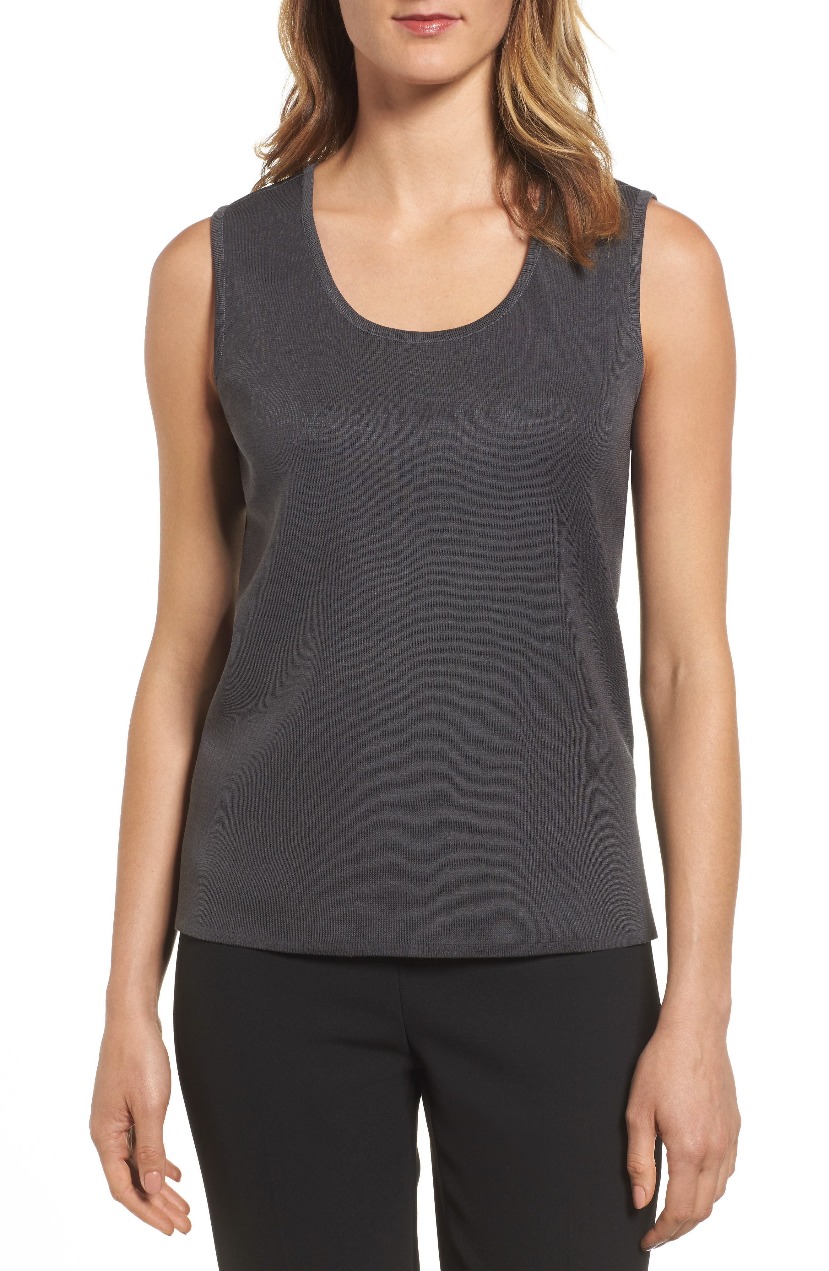 Scoop Neck Knit Tank,                         Main,                         color, 020