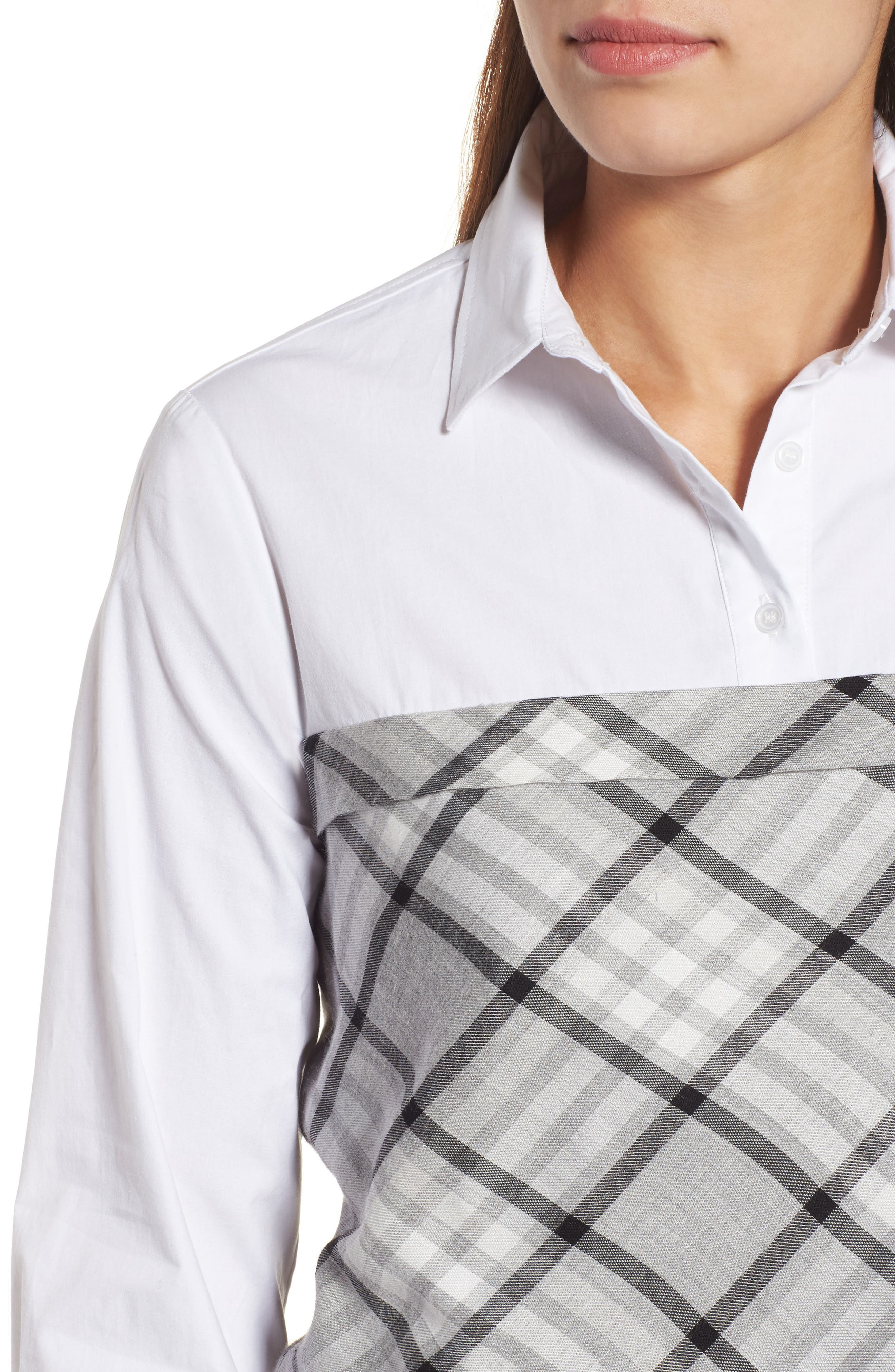 Plaid Corset Shirt,                             Alternate thumbnail 10, color,