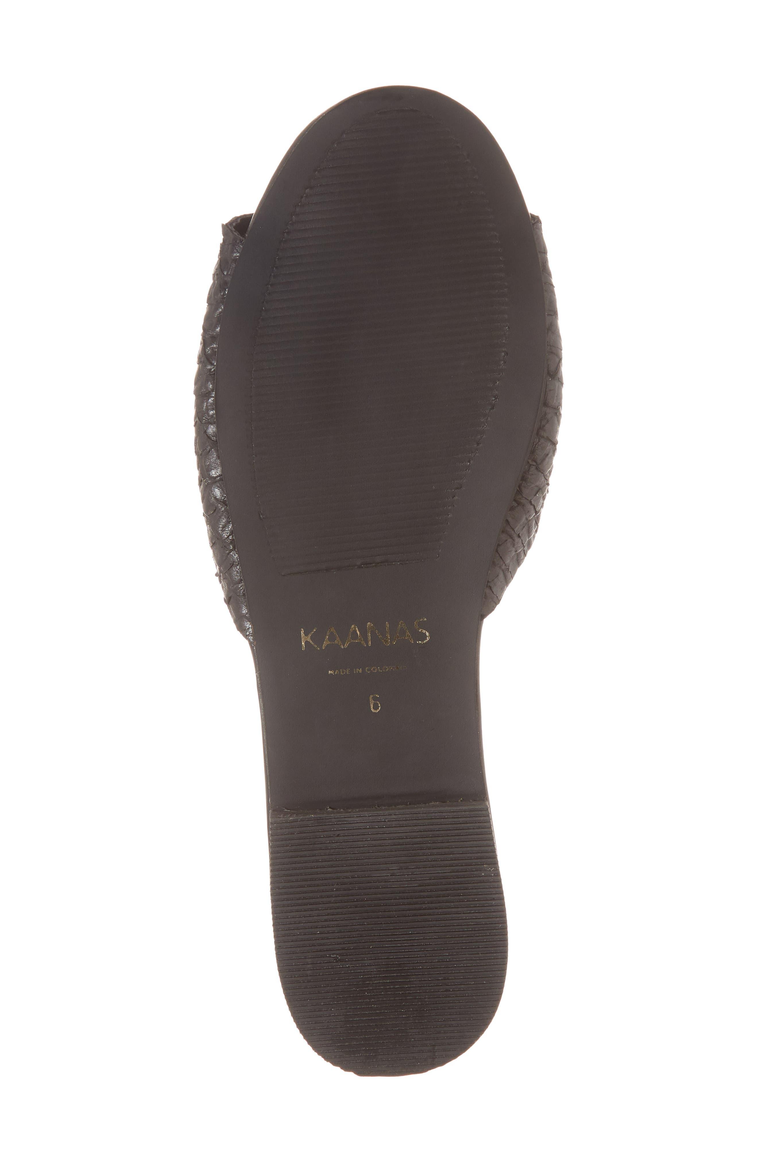 Leticia Loafer Mule Sandal,                             Alternate thumbnail 6, color,                             BLACK
