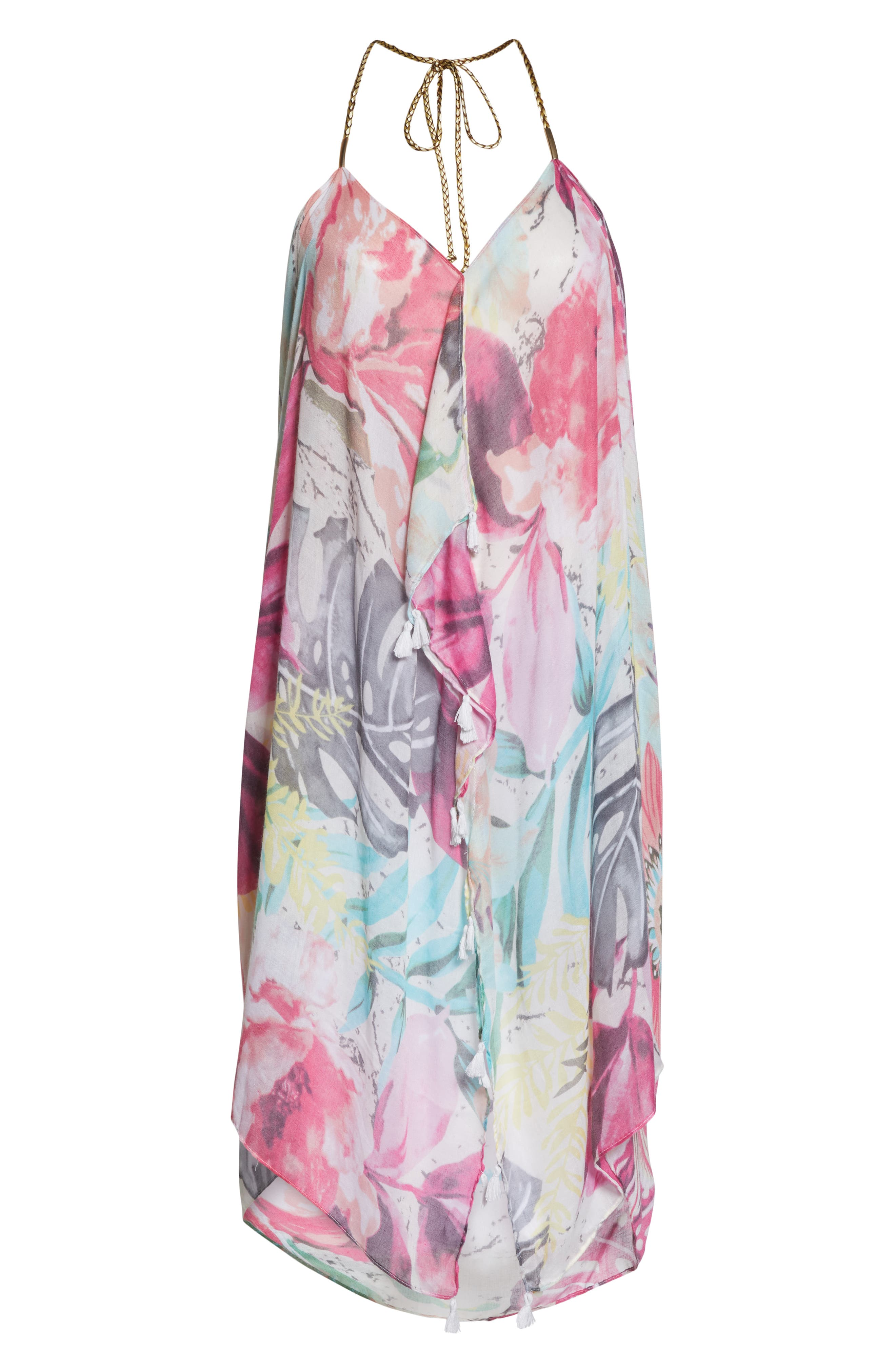 POOL TO PARTY,                             Beach to Street Cover-Up Maxi Dress,                             Alternate thumbnail 6, color,                             ALOHA BLOOM
