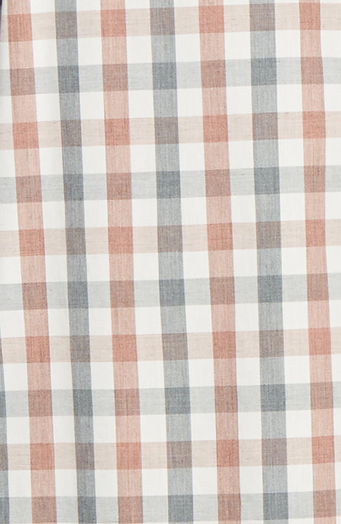 Check Sport Shirt,                             Alternate thumbnail 6, color,                             GREY RED WHITE MELANGE CHECK