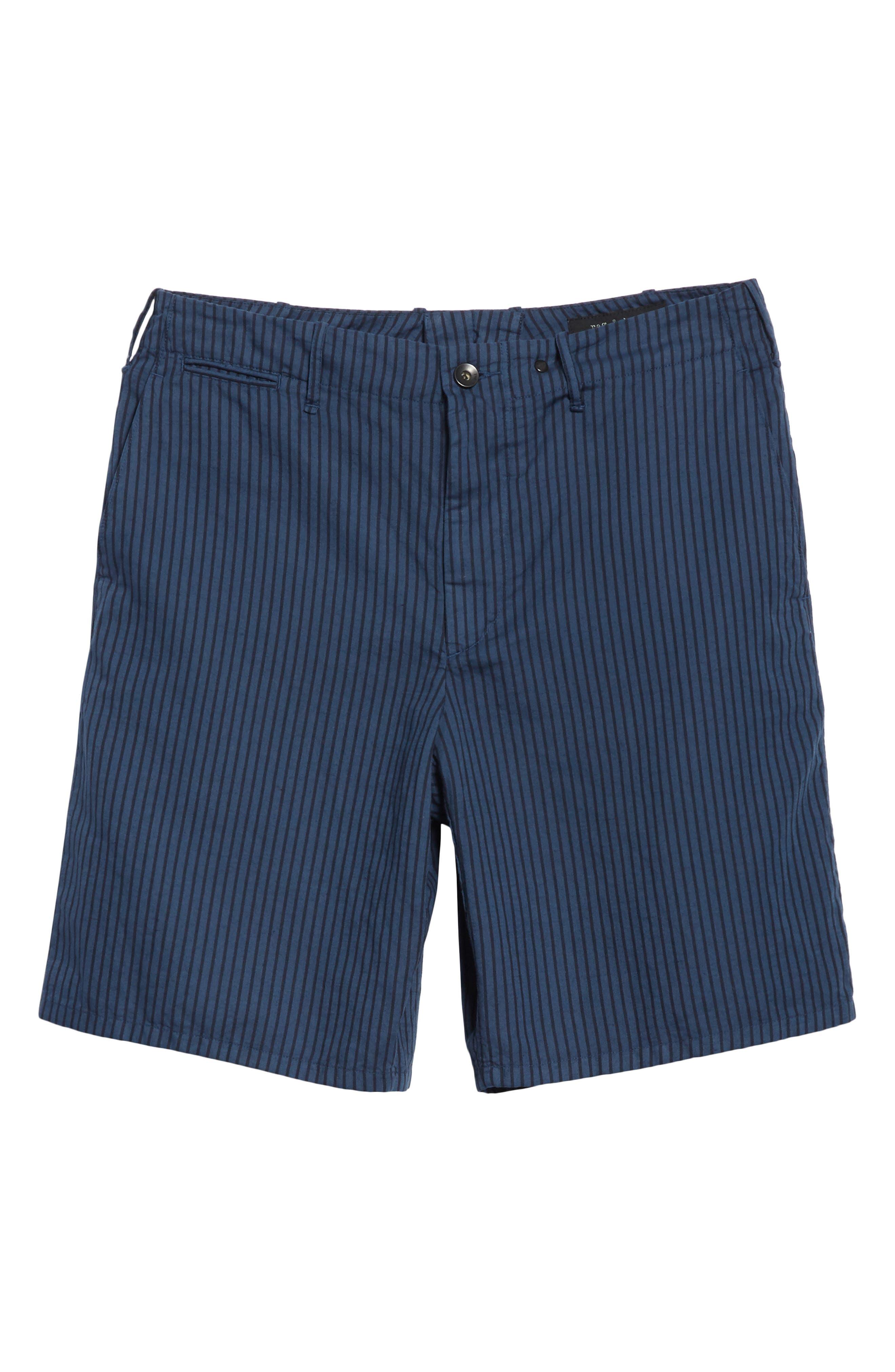 rag + bone Stripe Shorts,                             Alternate thumbnail 6, color,                             416