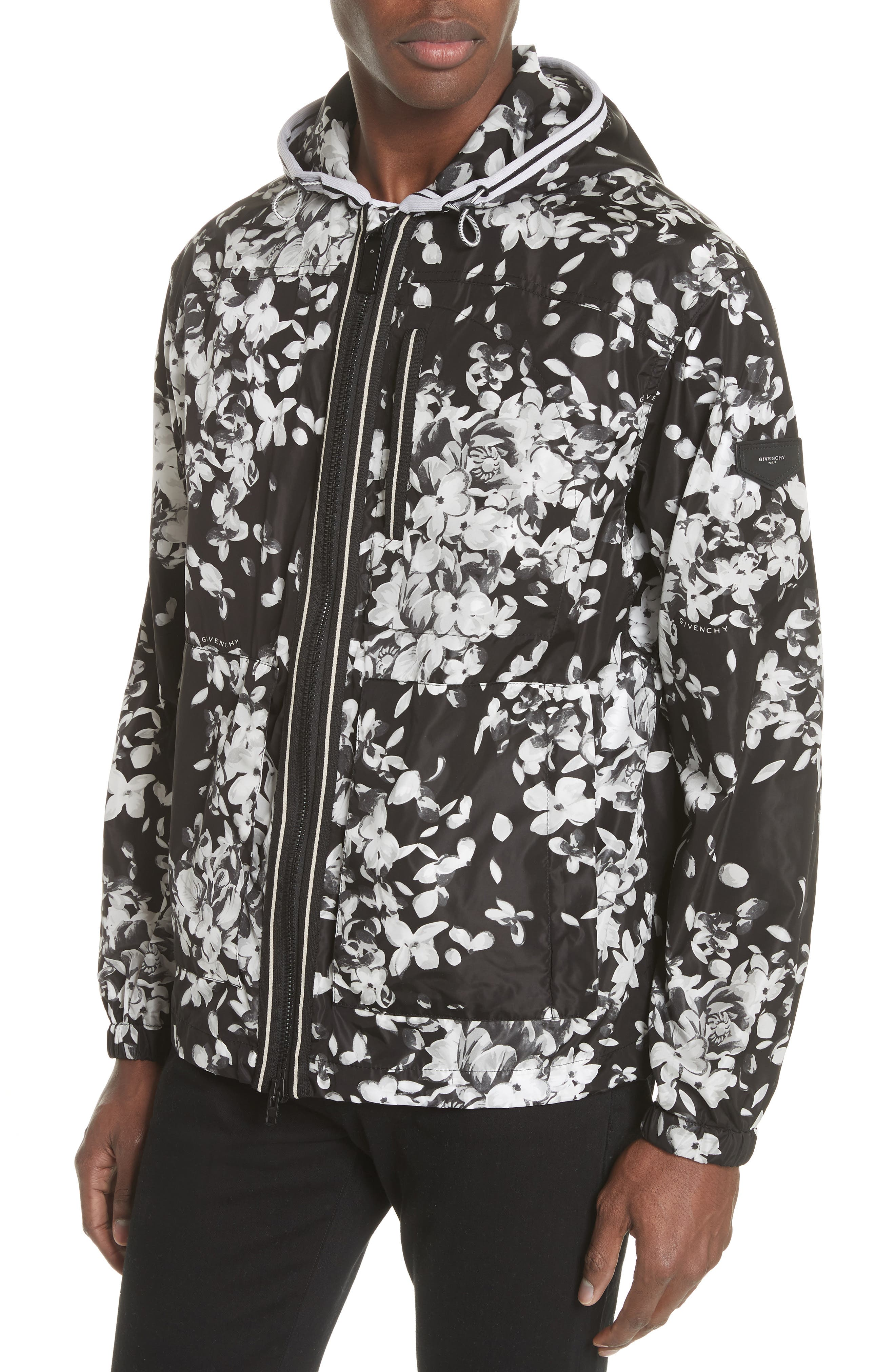 x K-Way Hydrangea Print Windbreaker,                             Alternate thumbnail 4, color,
