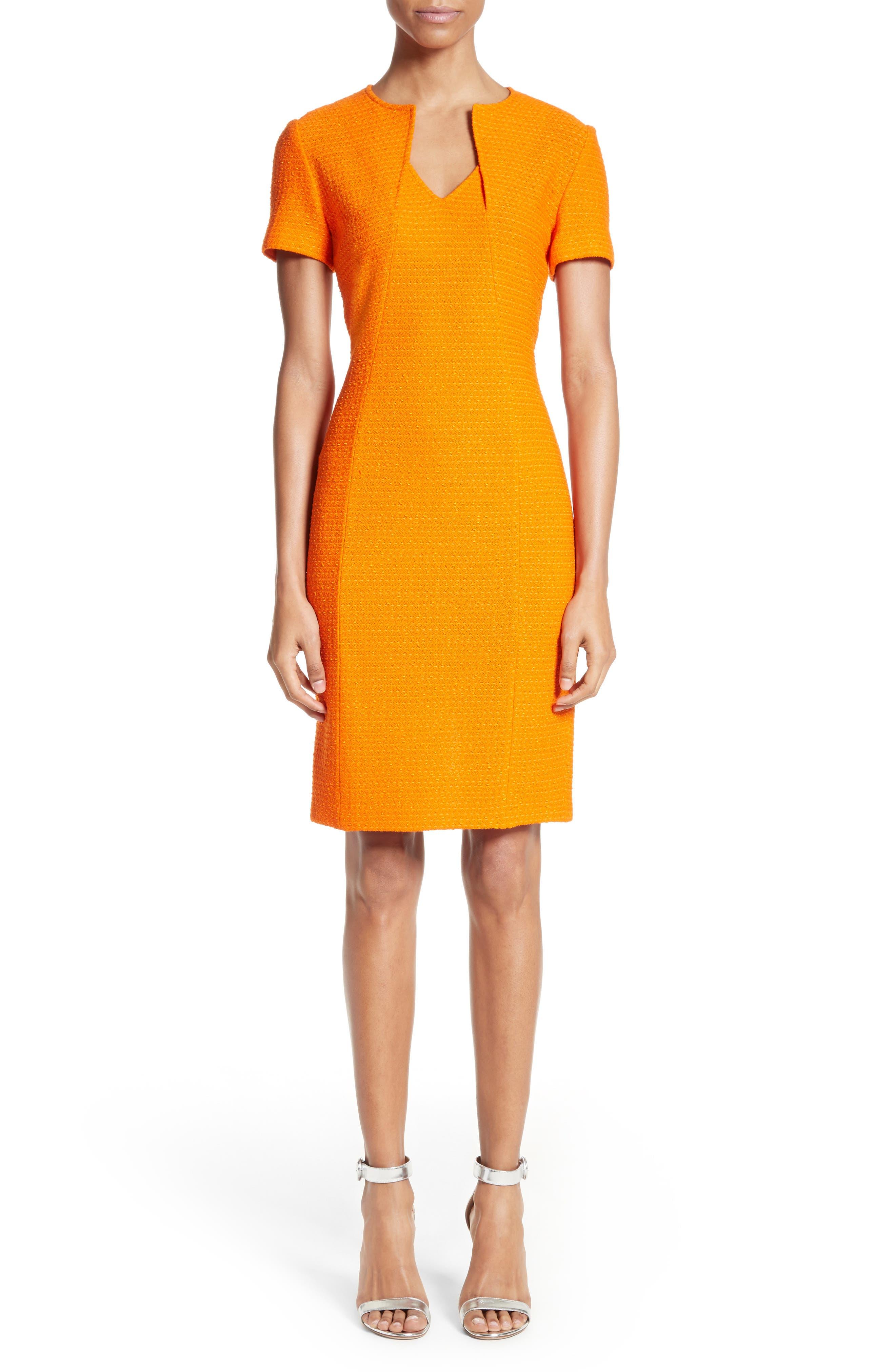 Ribbon Texture Knit Dress,                             Alternate thumbnail 6, color,                             820