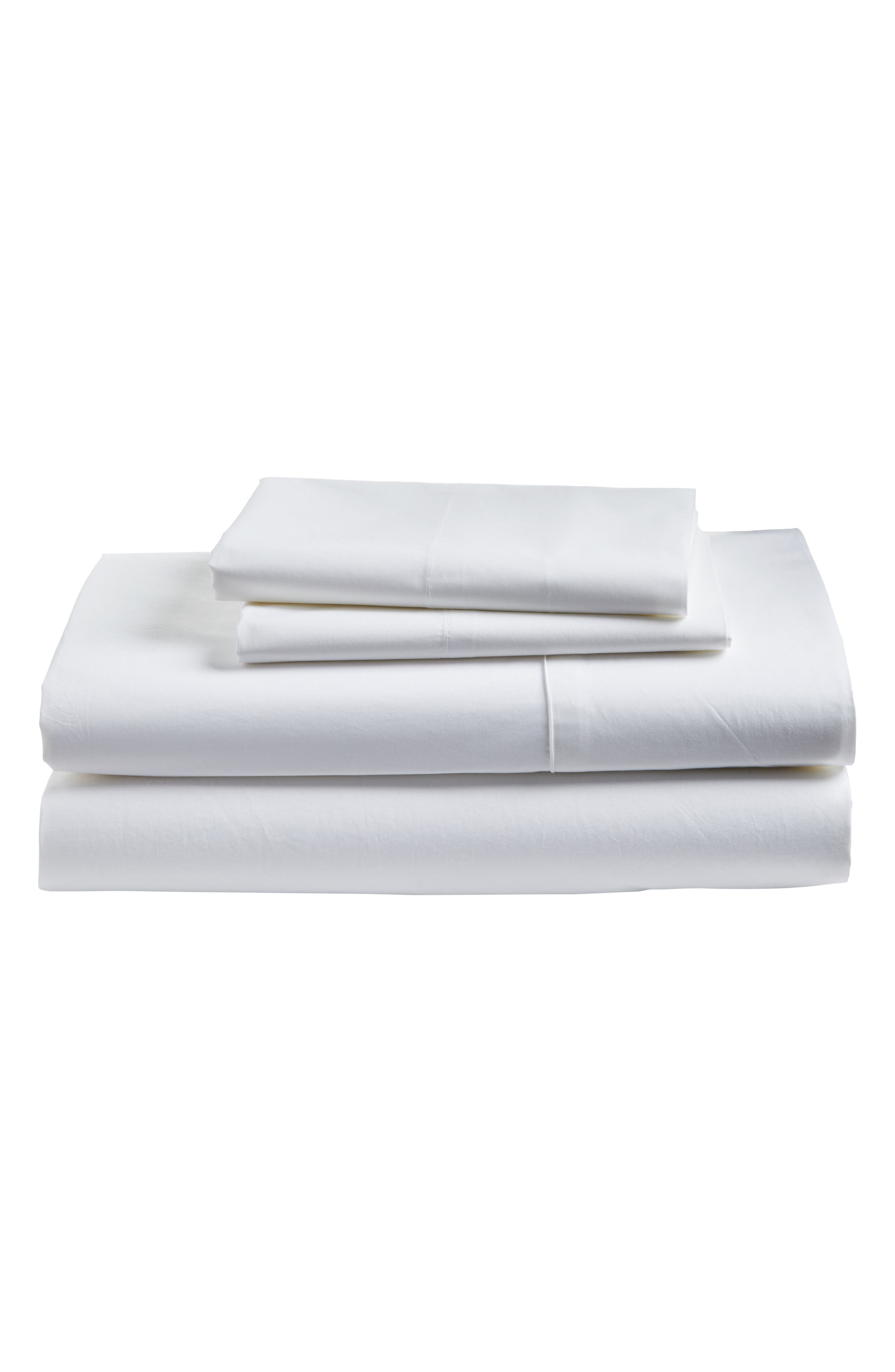 Cotton Percale Sheet Set,                             Main thumbnail 1, color,                             100