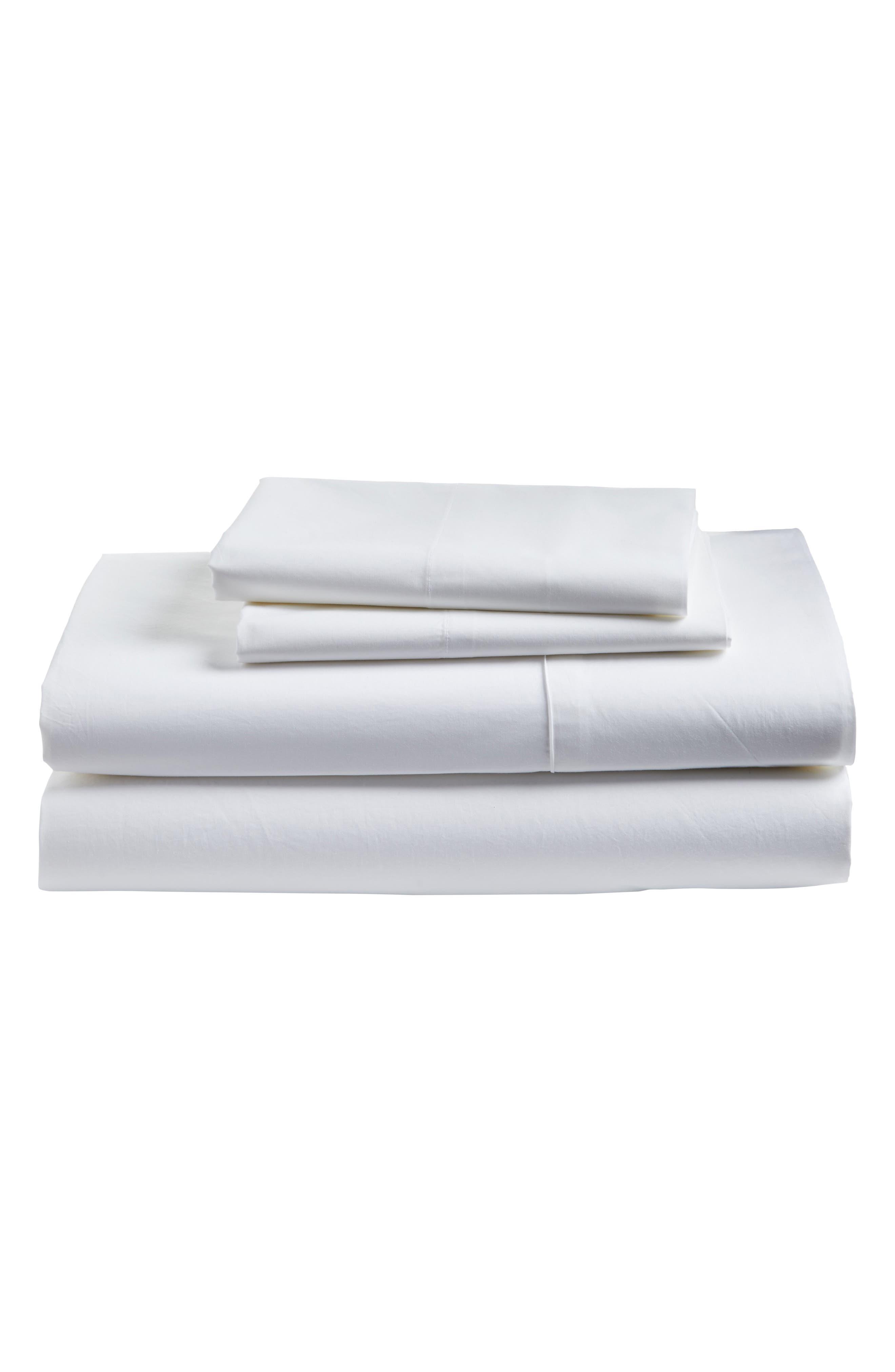 Cotton Percale Sheet Set,                         Main,                         color, 100