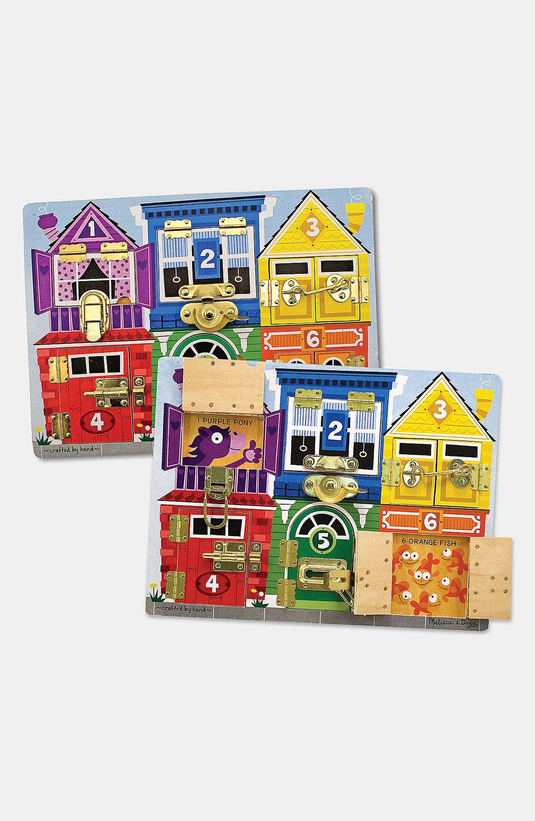 Melissa  Doug Wooden Latches Board  Ages 3