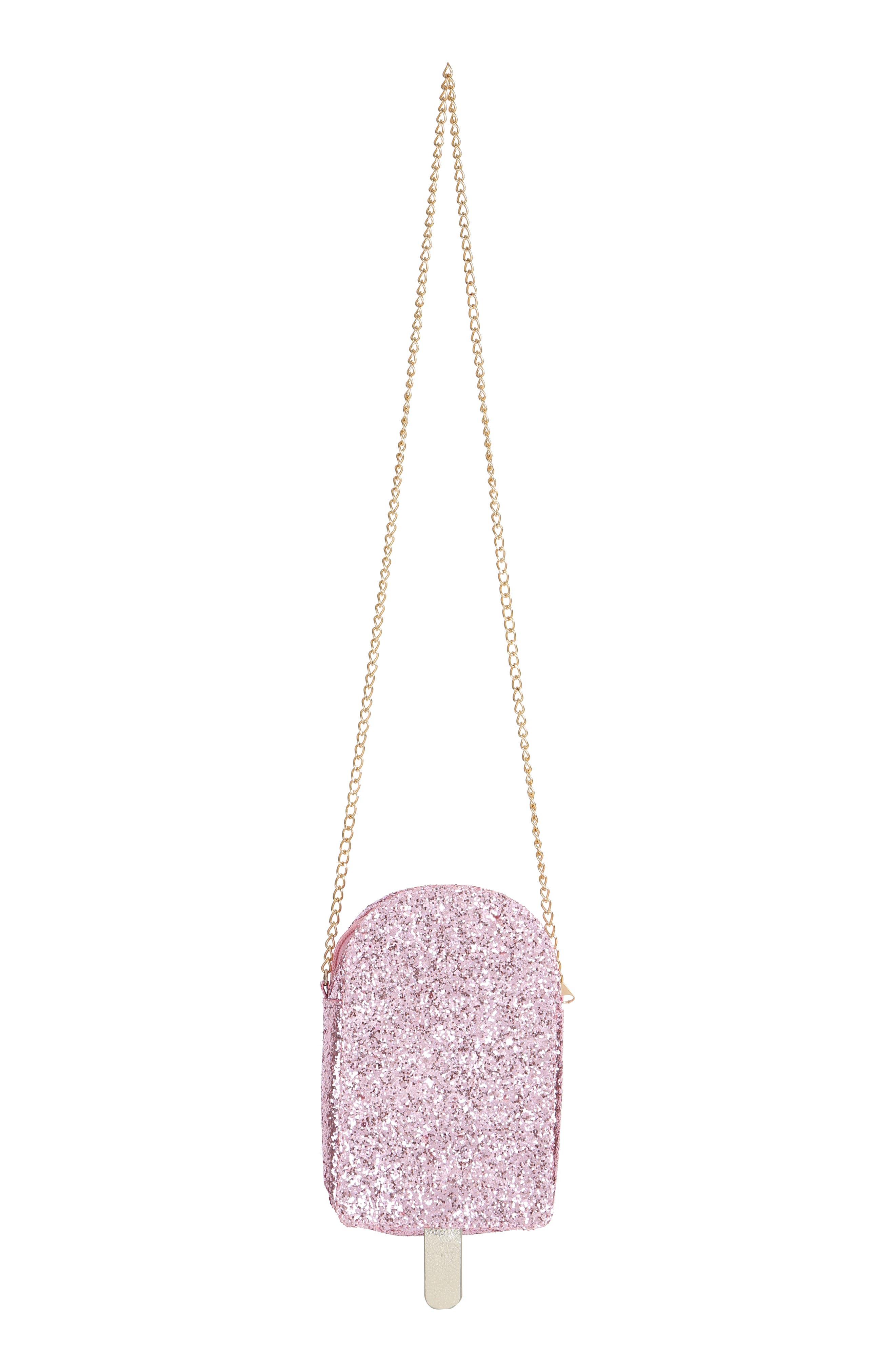 Ice Pop Glitter Shoulder Bag,                             Alternate thumbnail 2, color,                             PINK COMBO